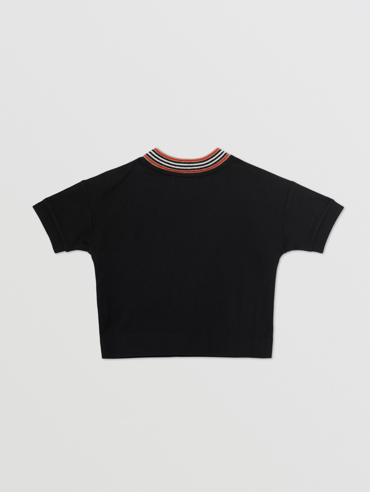 Cake Print Cotton T-shirt in Black