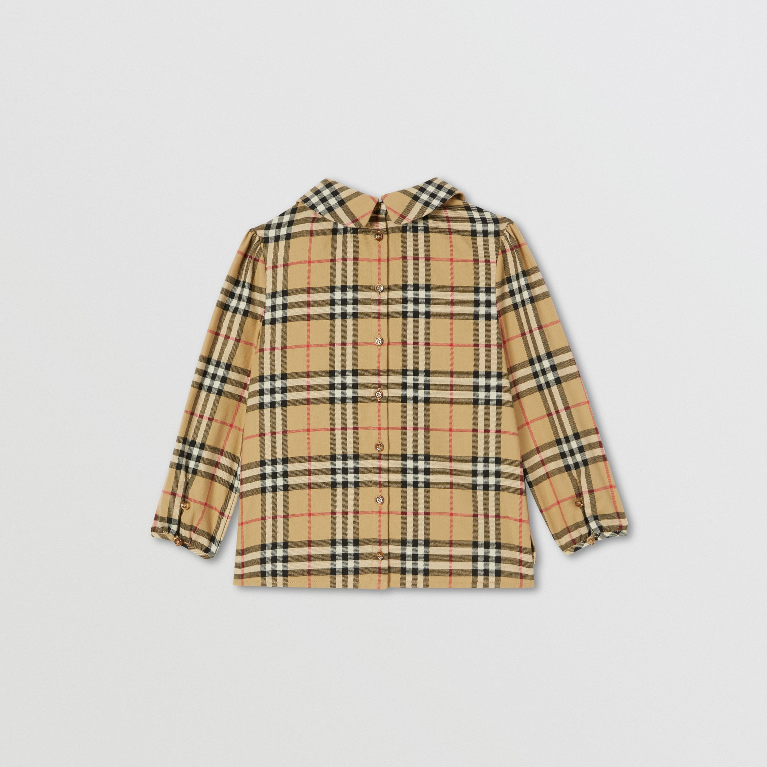 Camicetta in cotone con motivo Vintage check e colletto Peter Pan | Burberry - 4