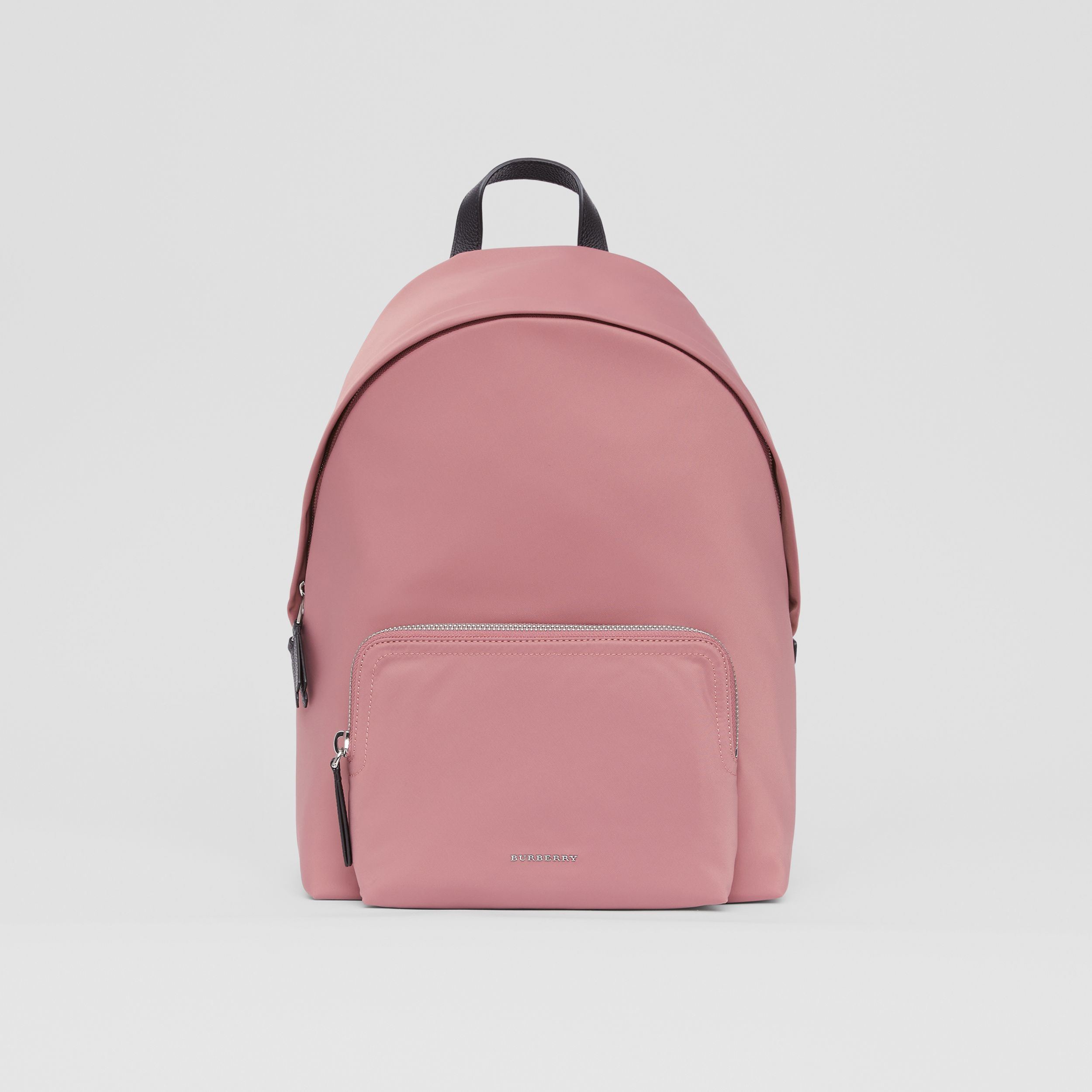 Logo Detail Backpack in Mauve Pink | Burberry - 1