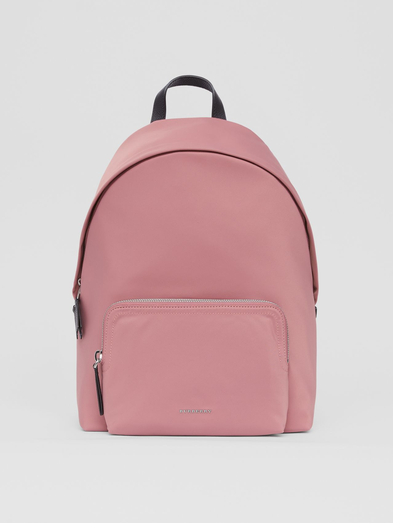Logo Detail Backpack in Mauve Pink