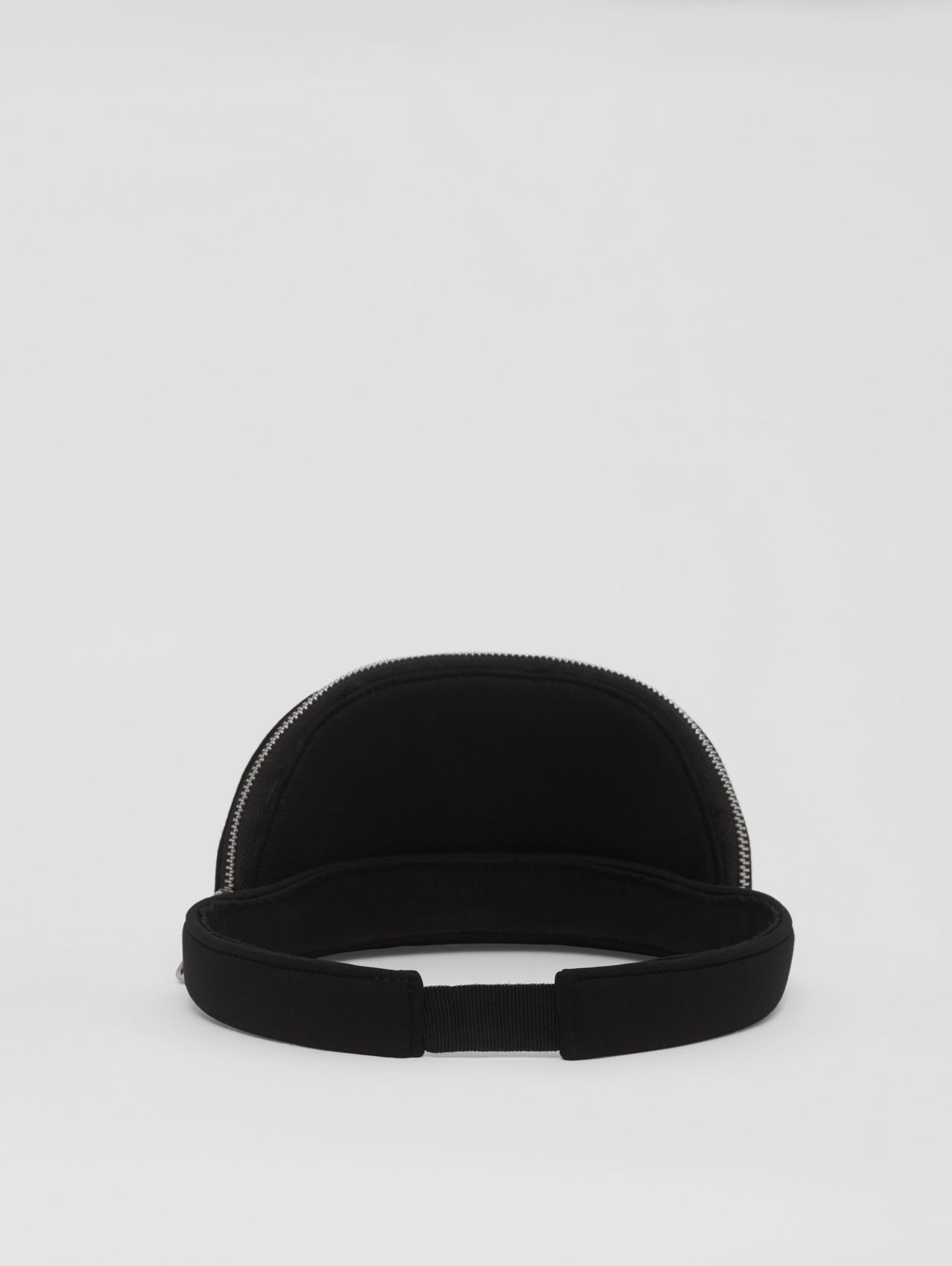 Neoprene Visor with Detachable Zip Pocket in Black