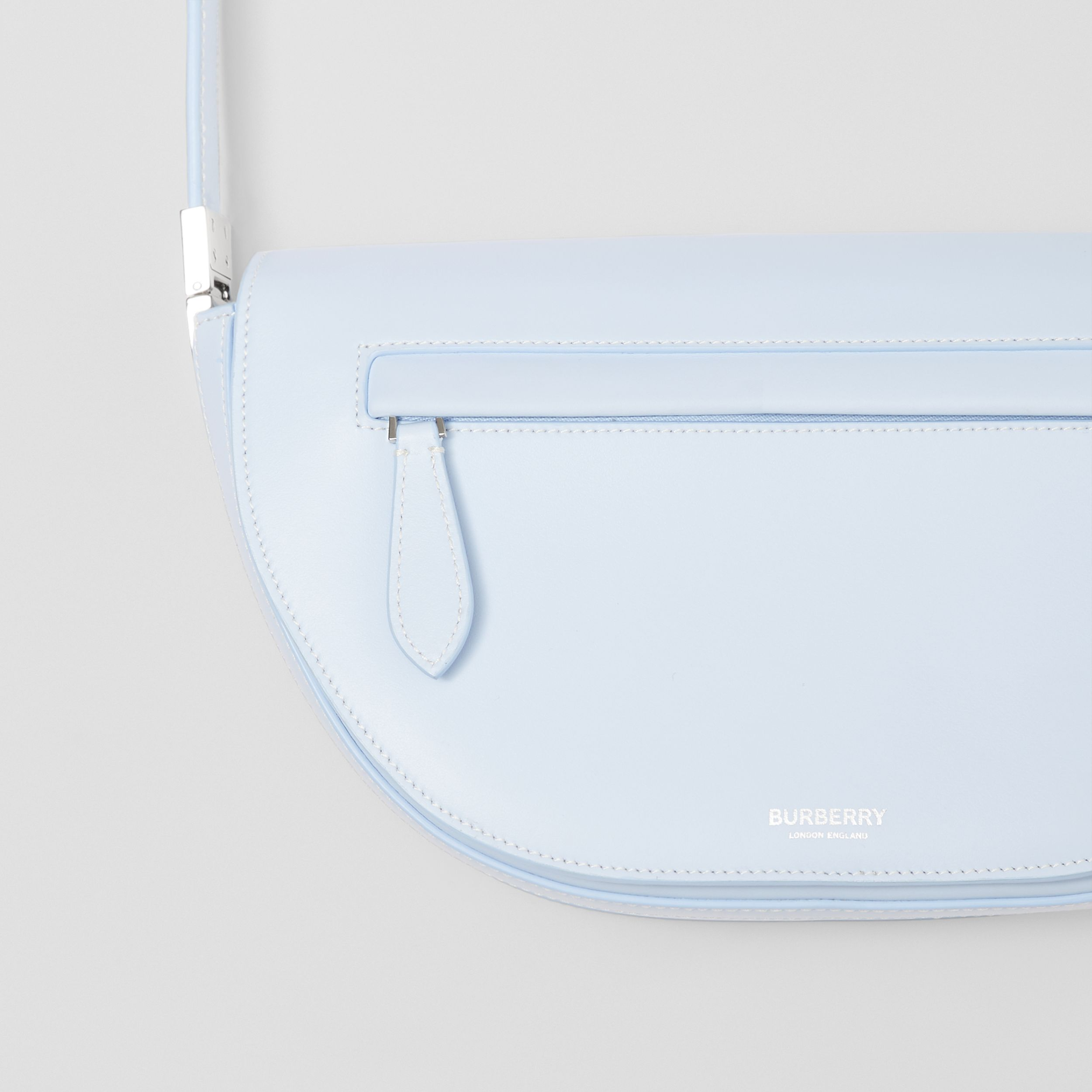 Small Leather Olympia Bag in Pale Blue - Women | Burberry - 2