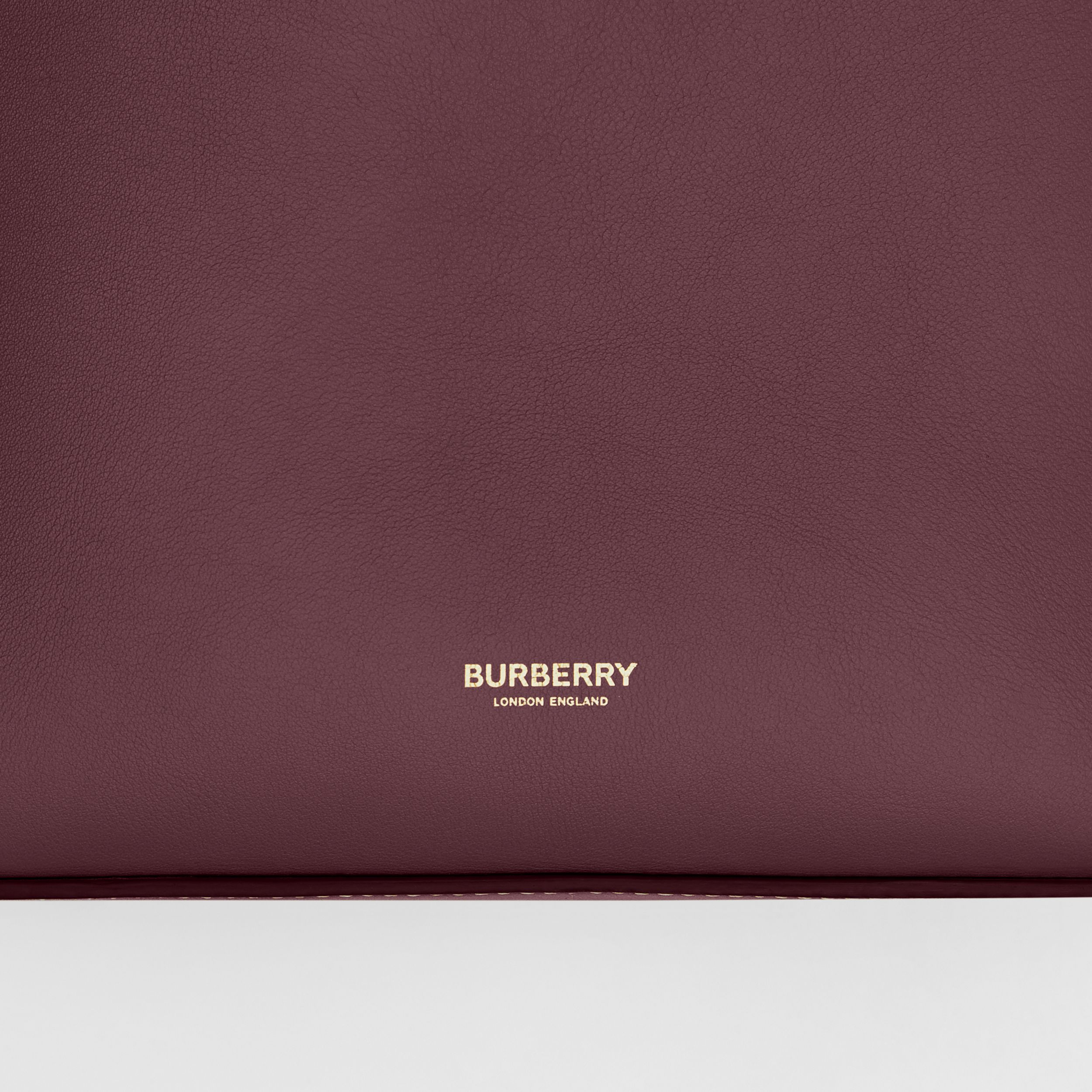 Large Leather Basket Bag in Deep Claret - Women | Burberry - 2