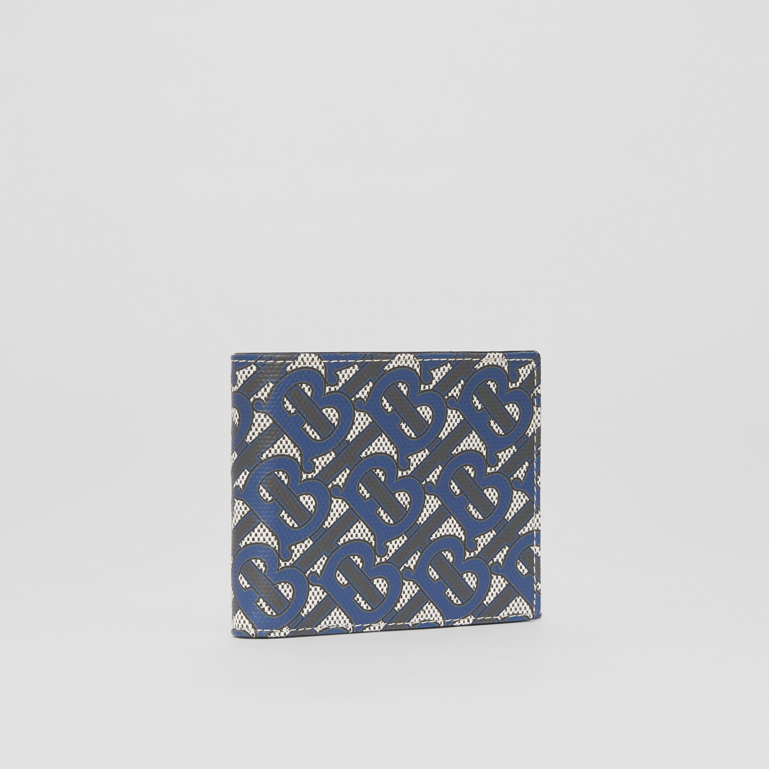 Monogram Print Canvas International Bifold Wallet in Ink Blue - Men | Burberry - 4