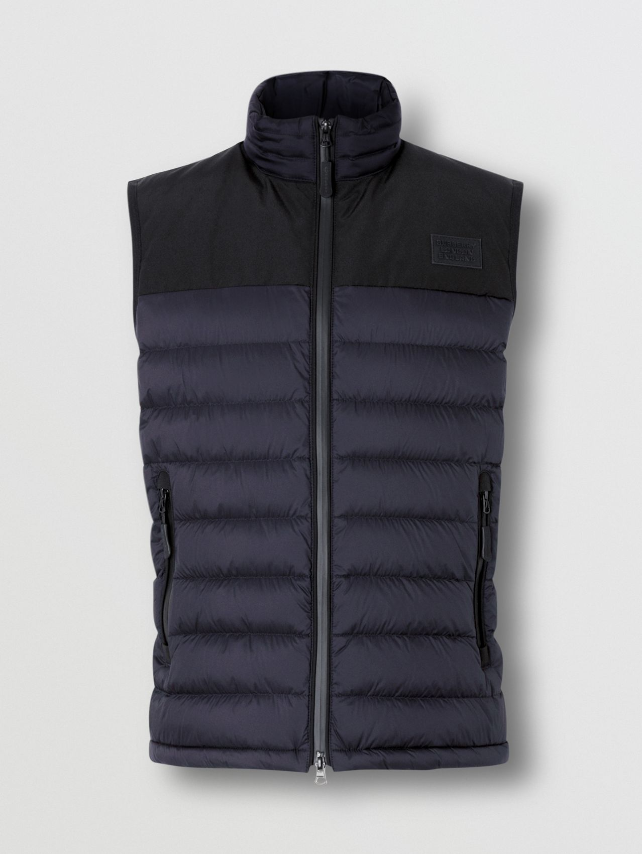Logo Appliqué Lightweight Puffer Gilet in Navy