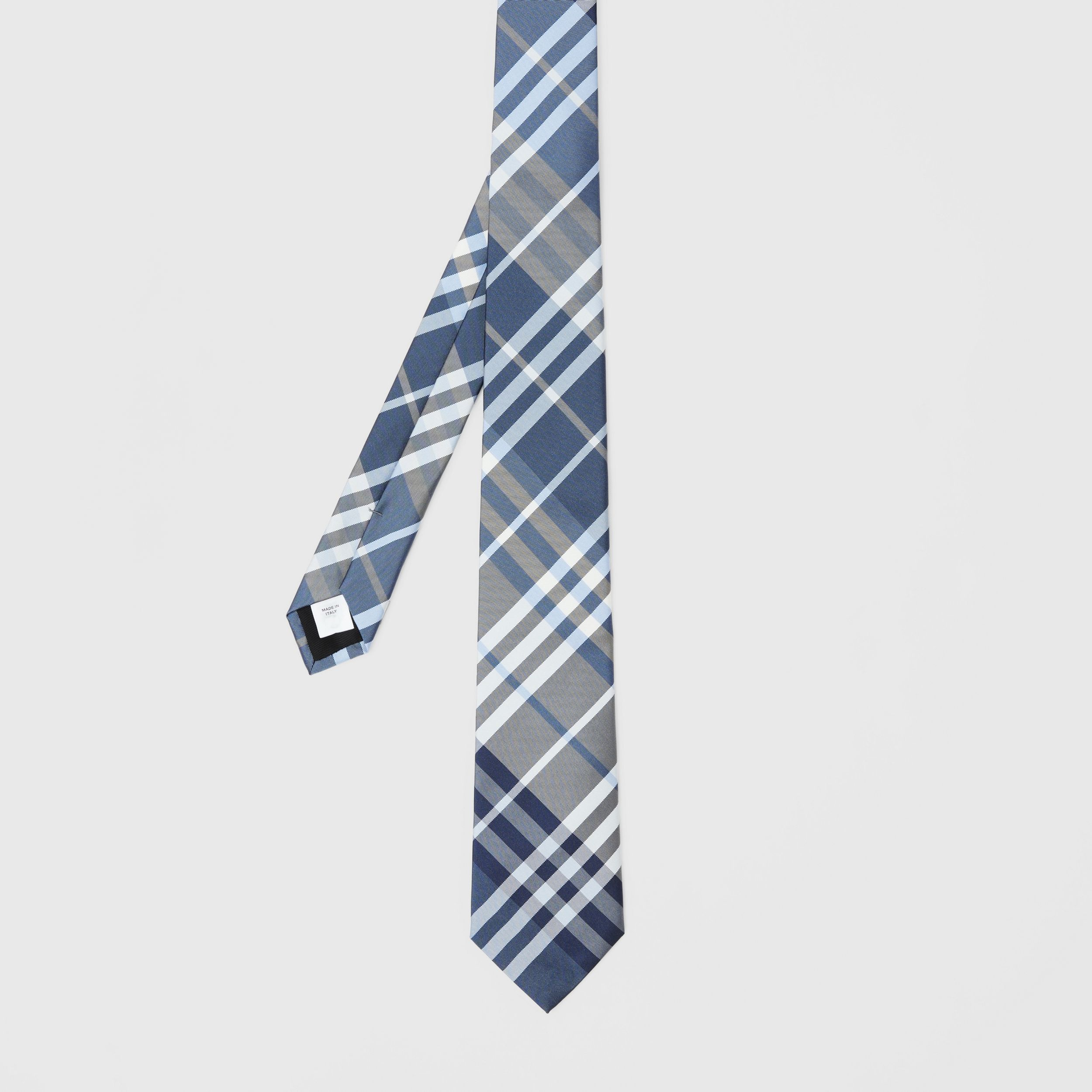 Classic Cut Check Silk Tie in Pale Blue - Men | Burberry - 4