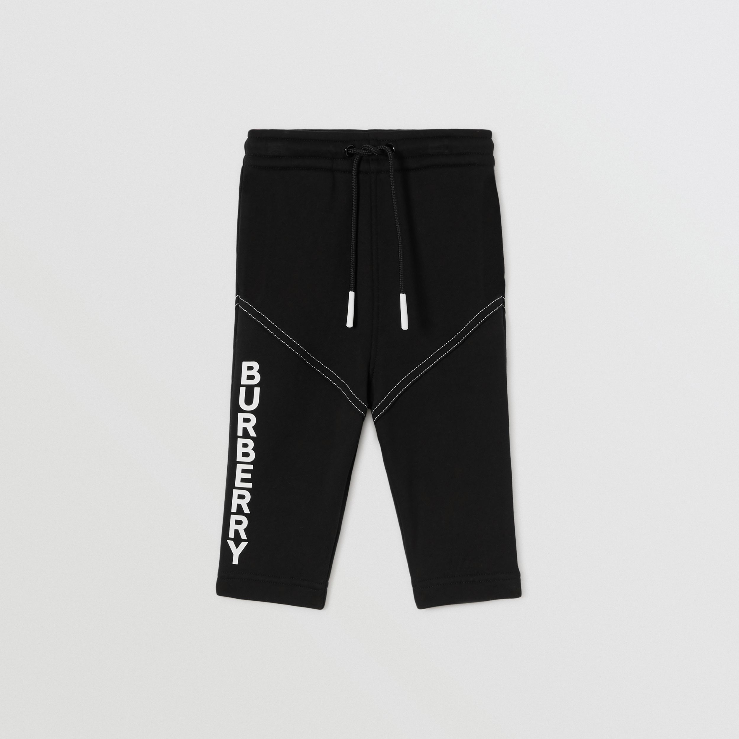 Logo Print Cotton Jogging Pants in Black - Children | Burberry - 1