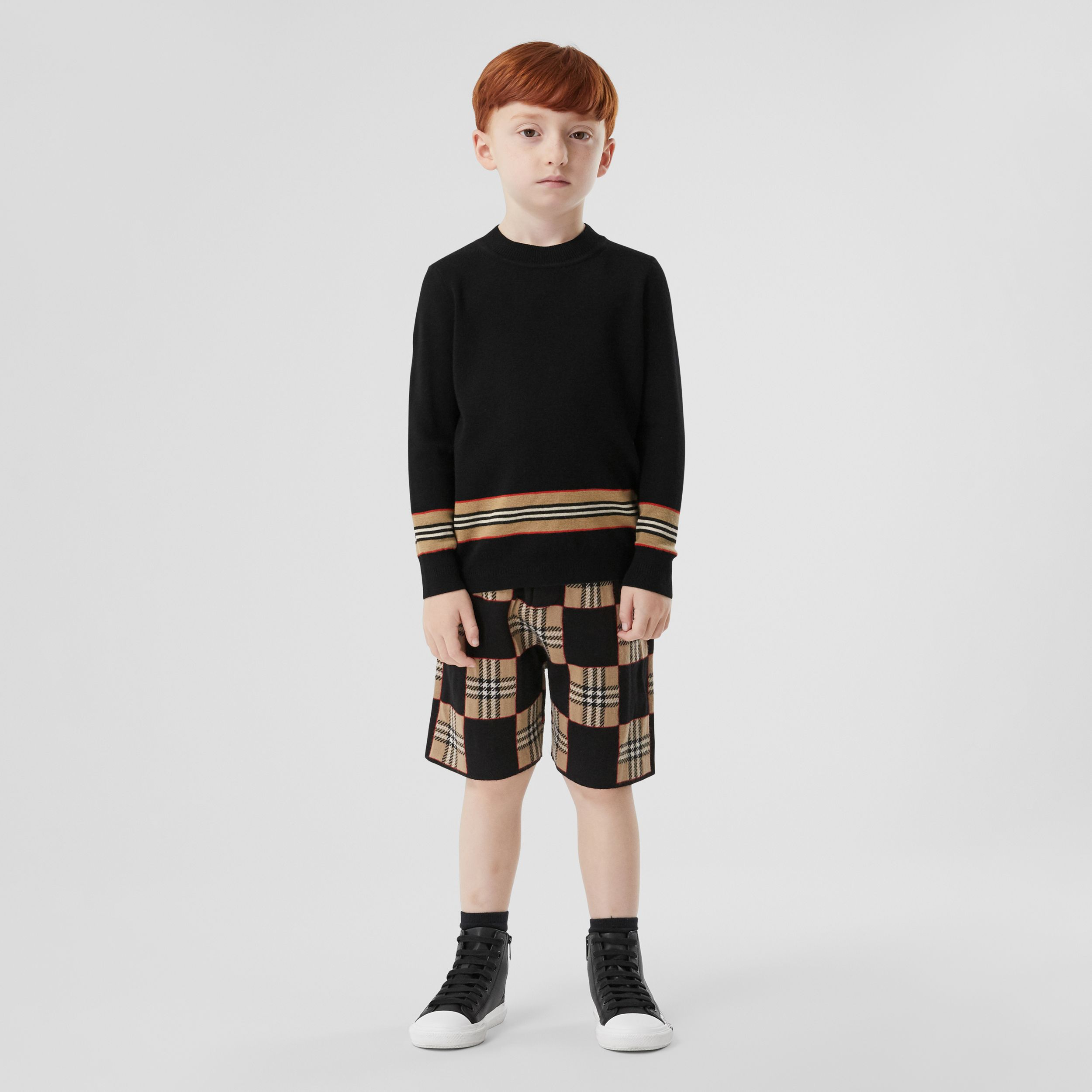 Icon Stripe Panel Merino Wool Sweater | Burberry - 3