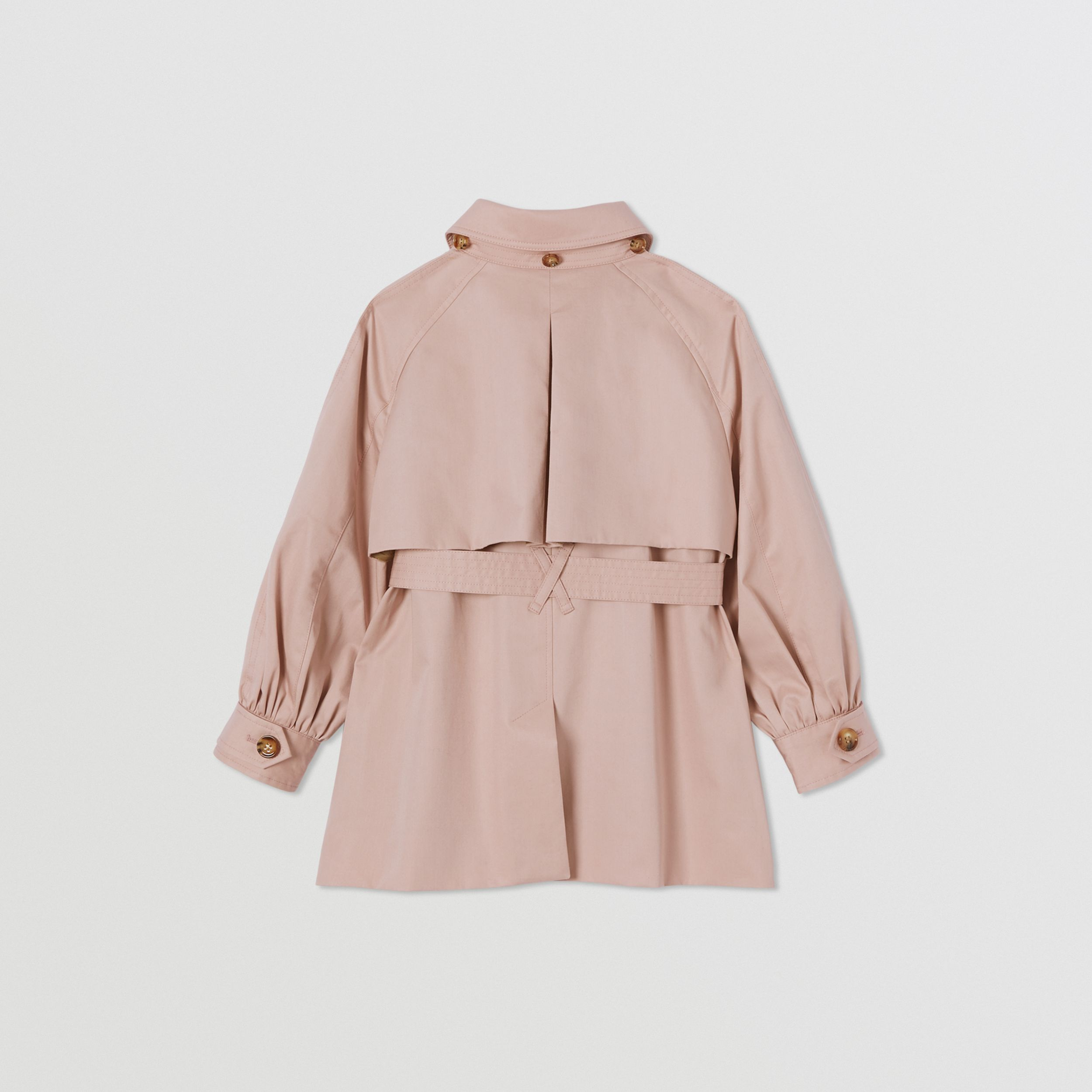 Detachable Hood Cotton Twill Trench Coat in Ice Pink | Burberry - 4
