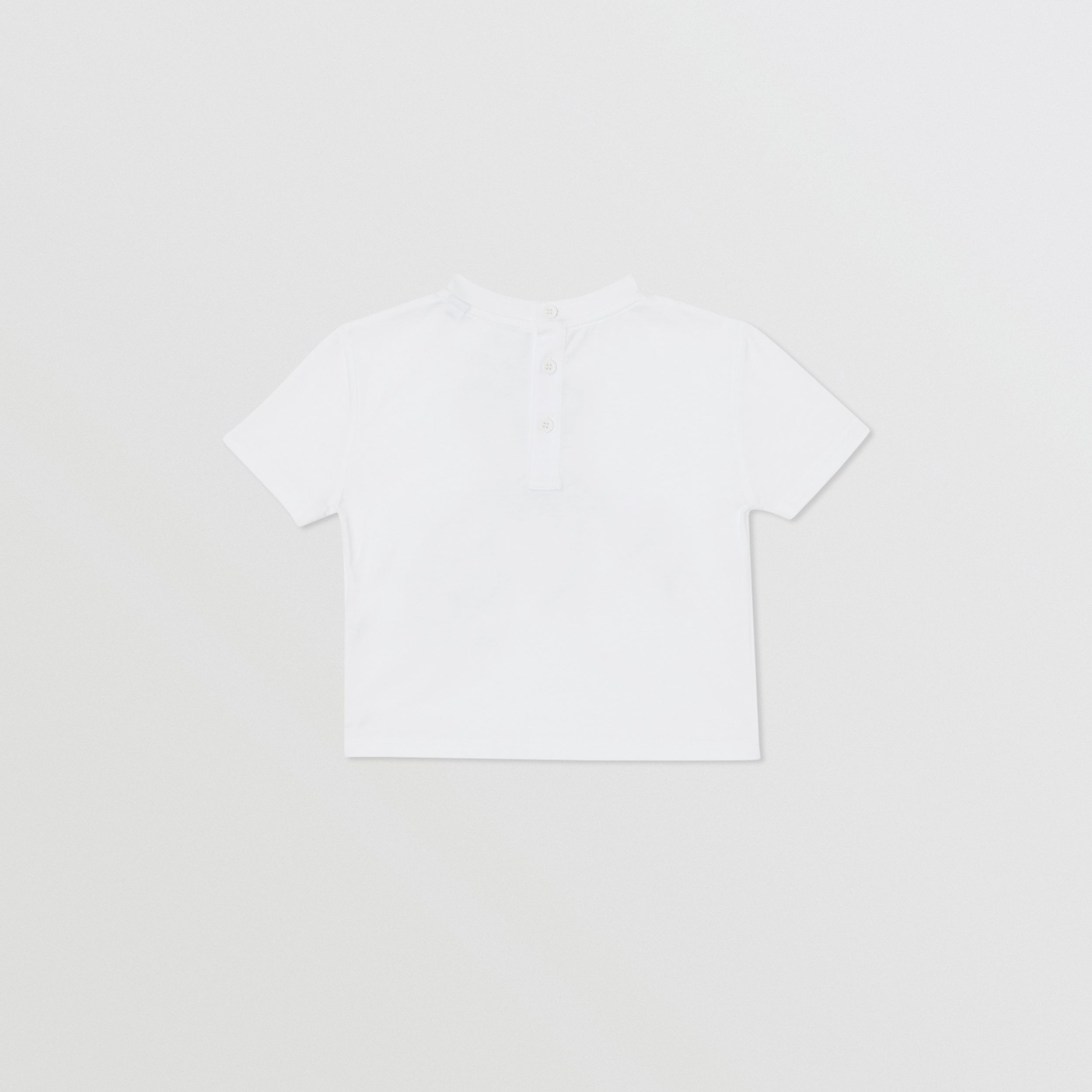 Thomas Bear Appliqué Cotton T-shirt in White - Children | Burberry - 4