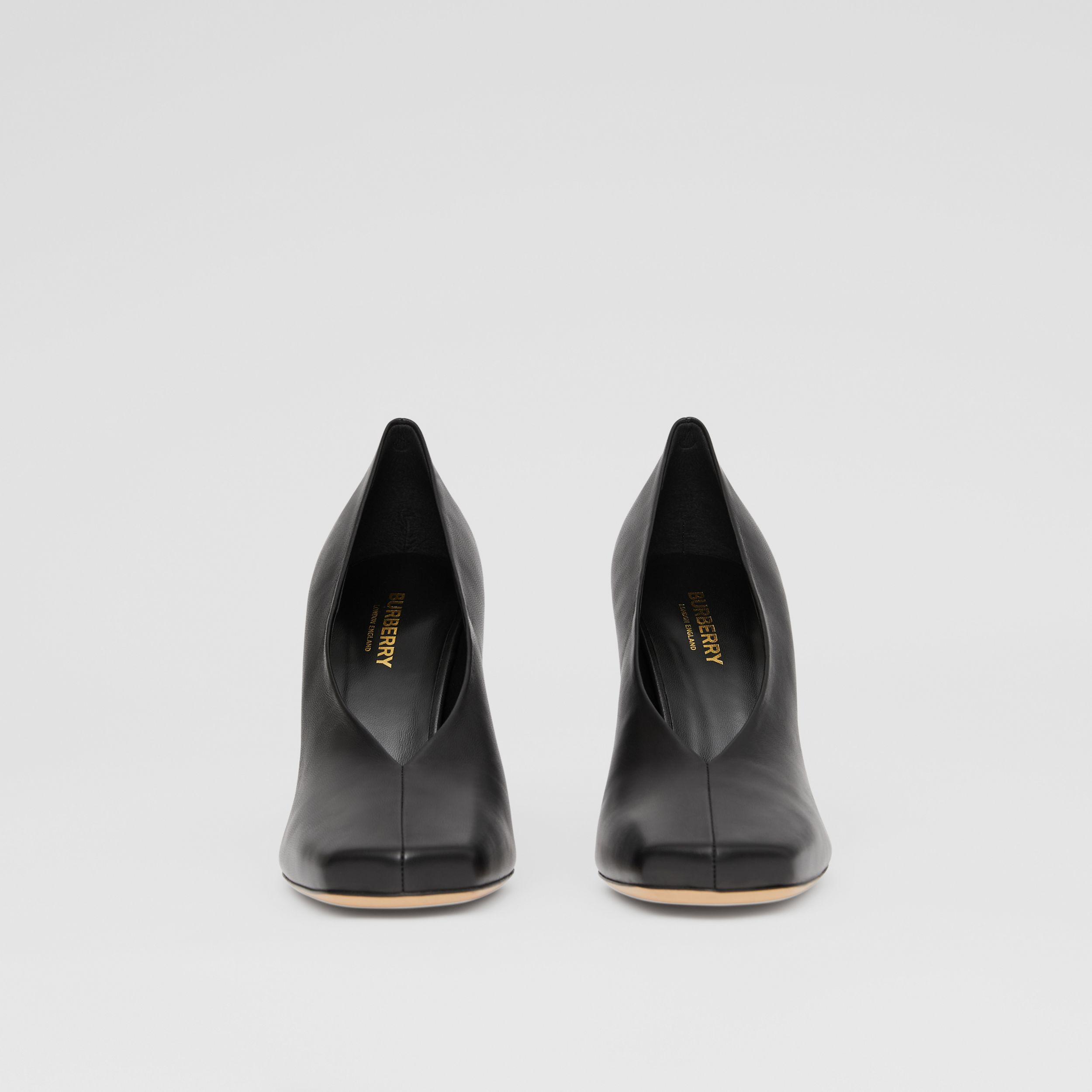 Lambskin Sculptural Pumps in Black - Women | Burberry Australia - 4