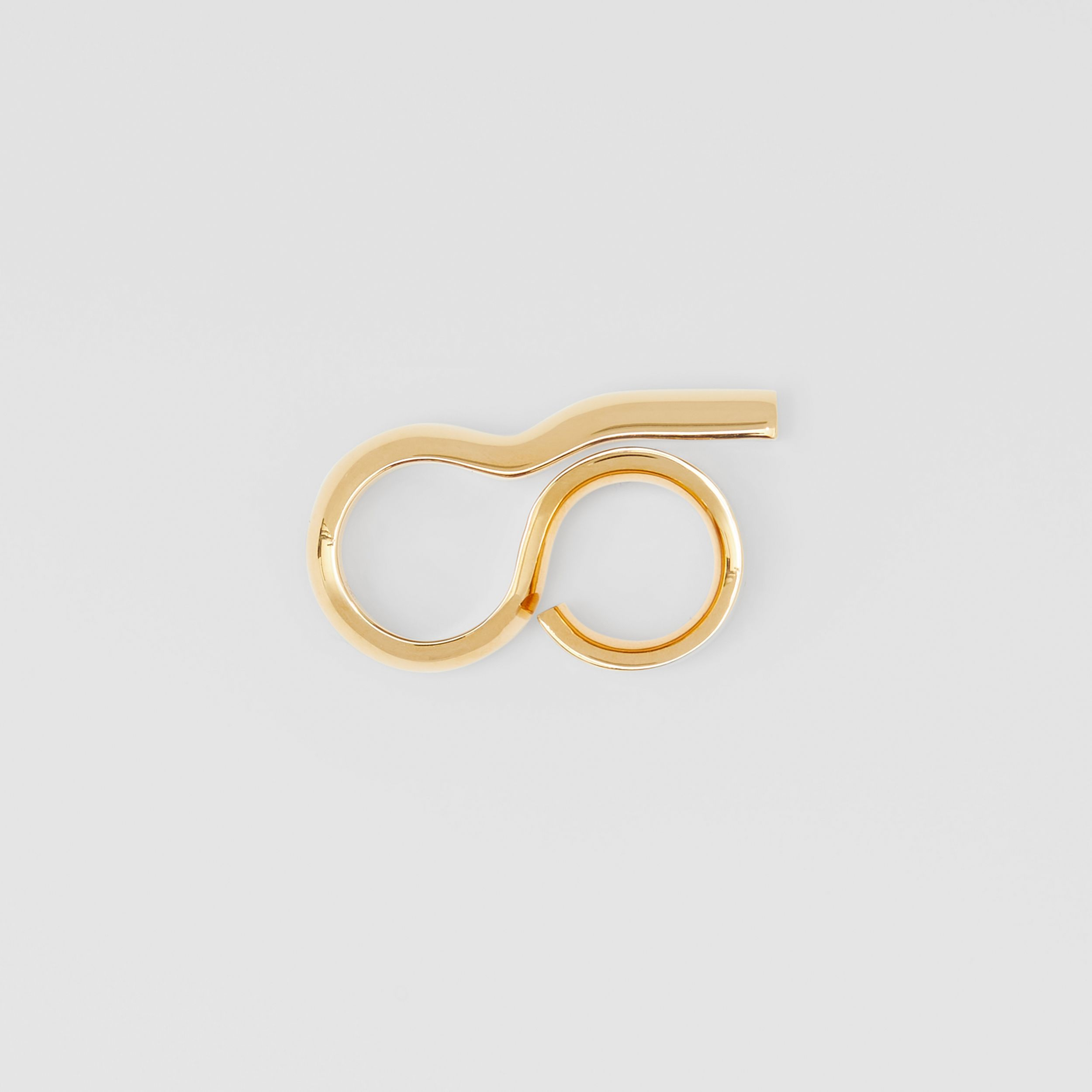 Gold-plated Keyhole Double Ring in Light | Burberry - 4