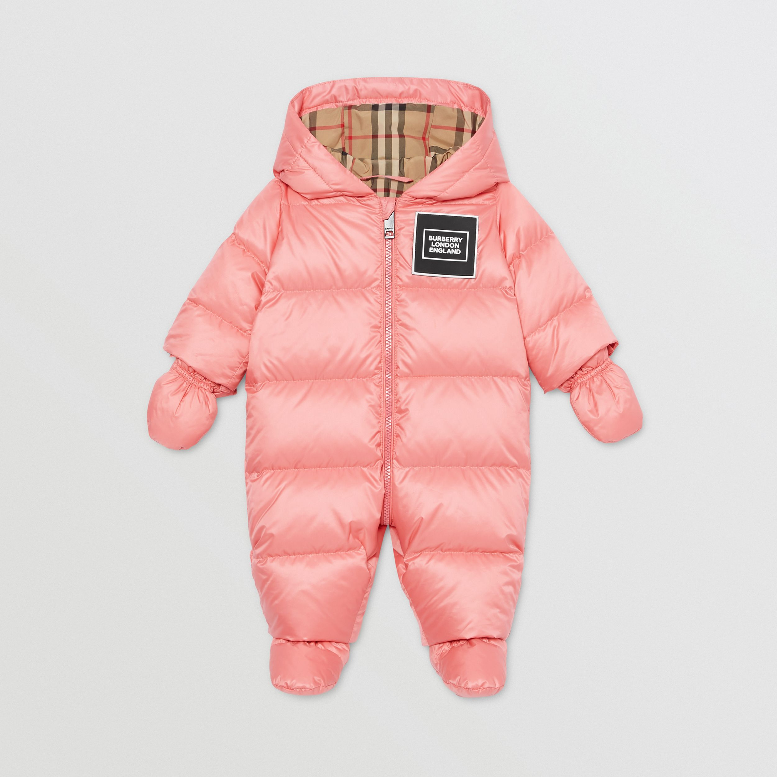 Logo Appliqué Puffer Suit in Peach - Children | Burberry United Kingdom - 1