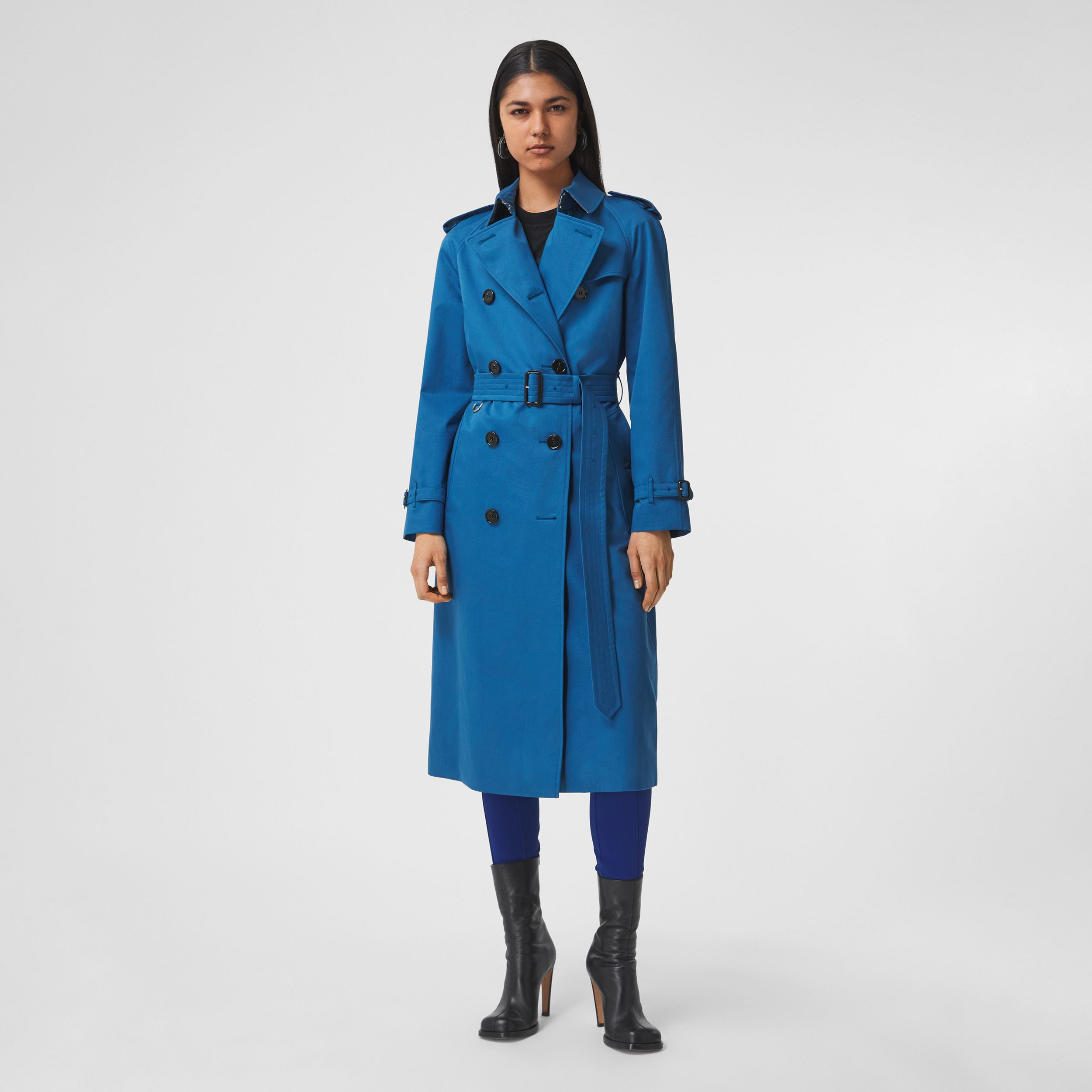 Trench coat in gabardine di cotone (Blu Ceruleo Scuro) - Donna | Burberry - 1