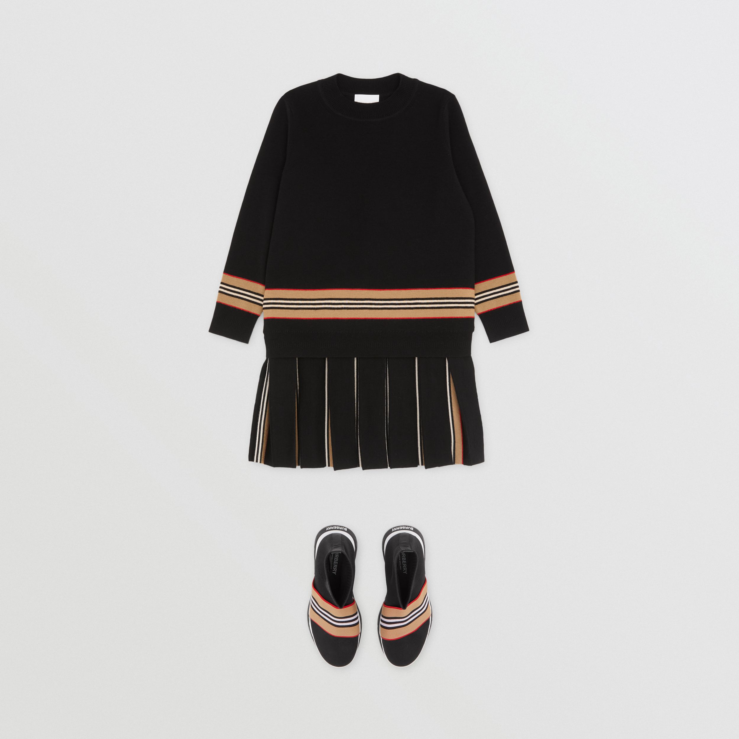 Icon Stripe Panel Merino Wool Sweater | Burberry - 4