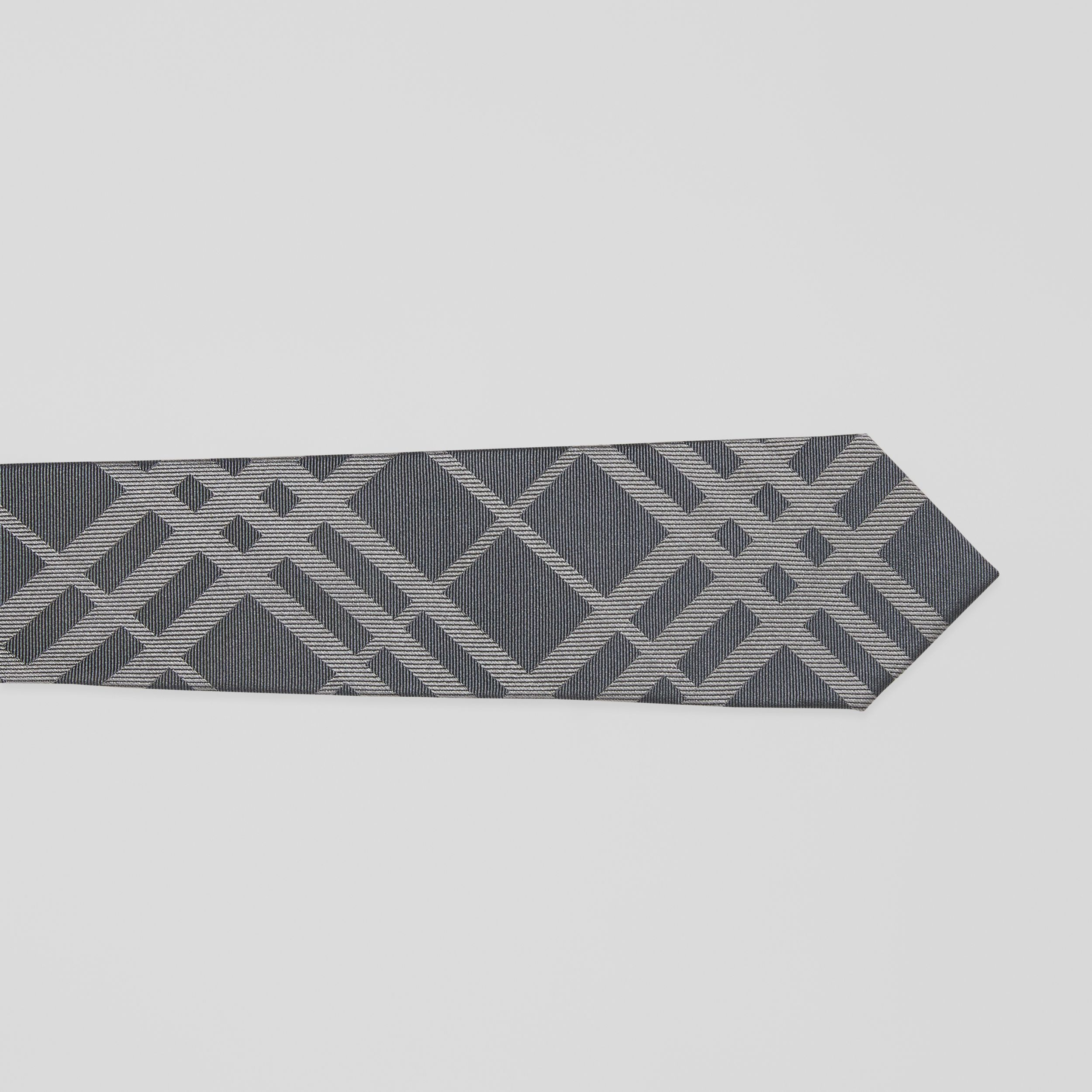Classic Cut Check Silk Jacquard Tie in Mid Grey - Men | Burberry - 2
