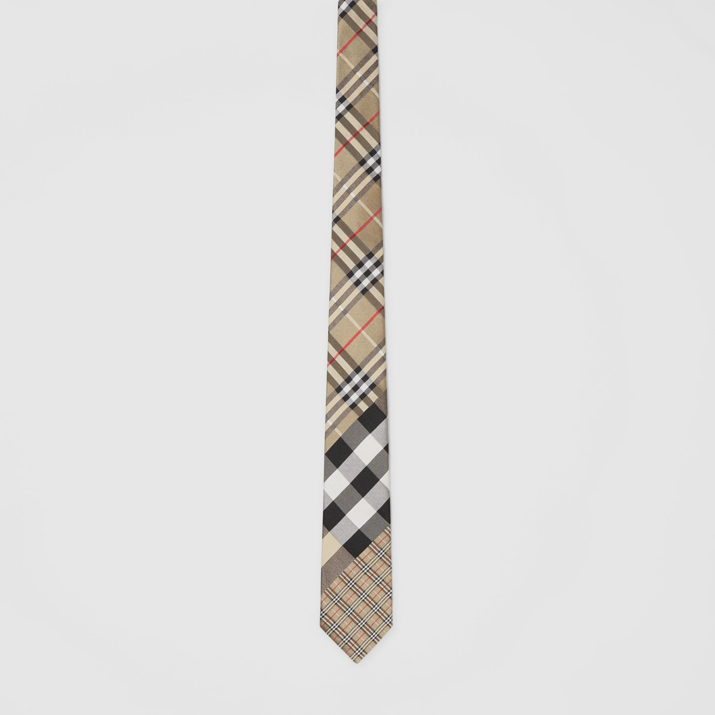 Classic Cut Check Silk Jacquard Tie in Archive Beige - Men | Burberry - 3