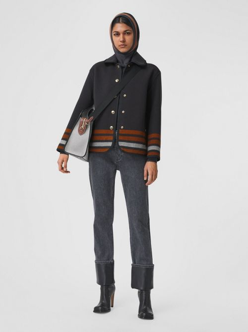 Burberry Striped Wool Jacket