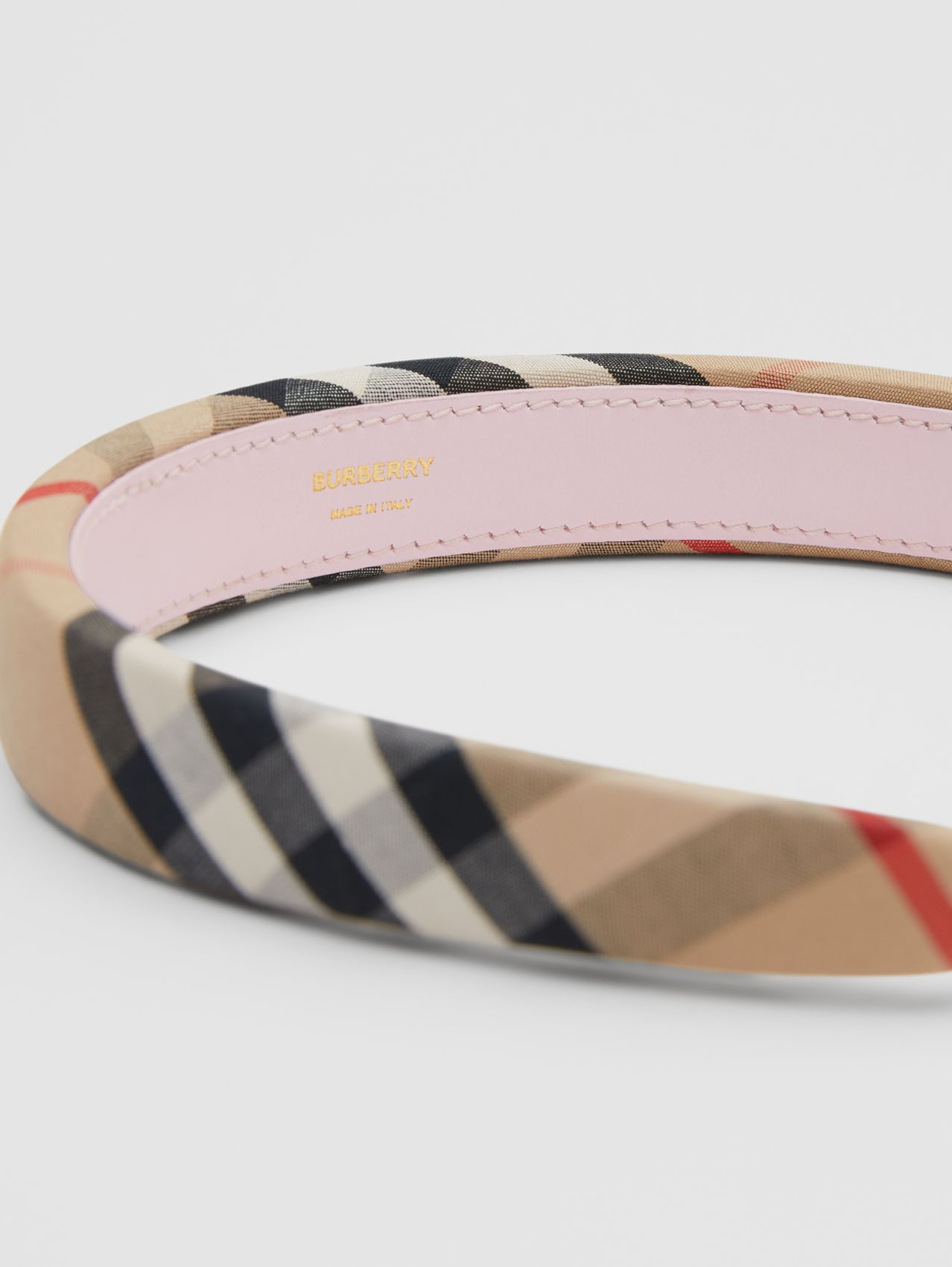 Vintage Check Hairband in Archive Beige
