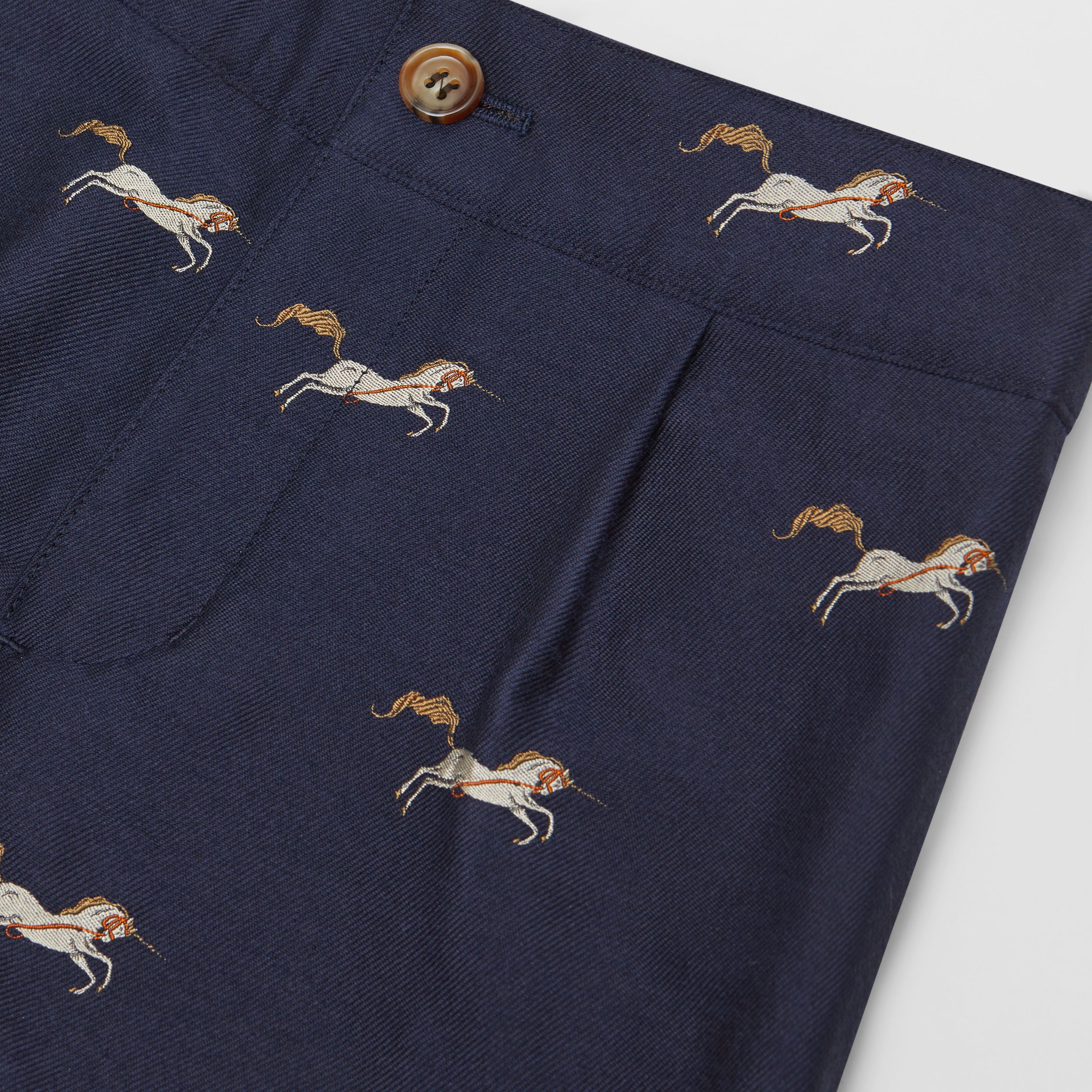Unicorn Wool Silk Jacquard Shorts | Burberry - 2