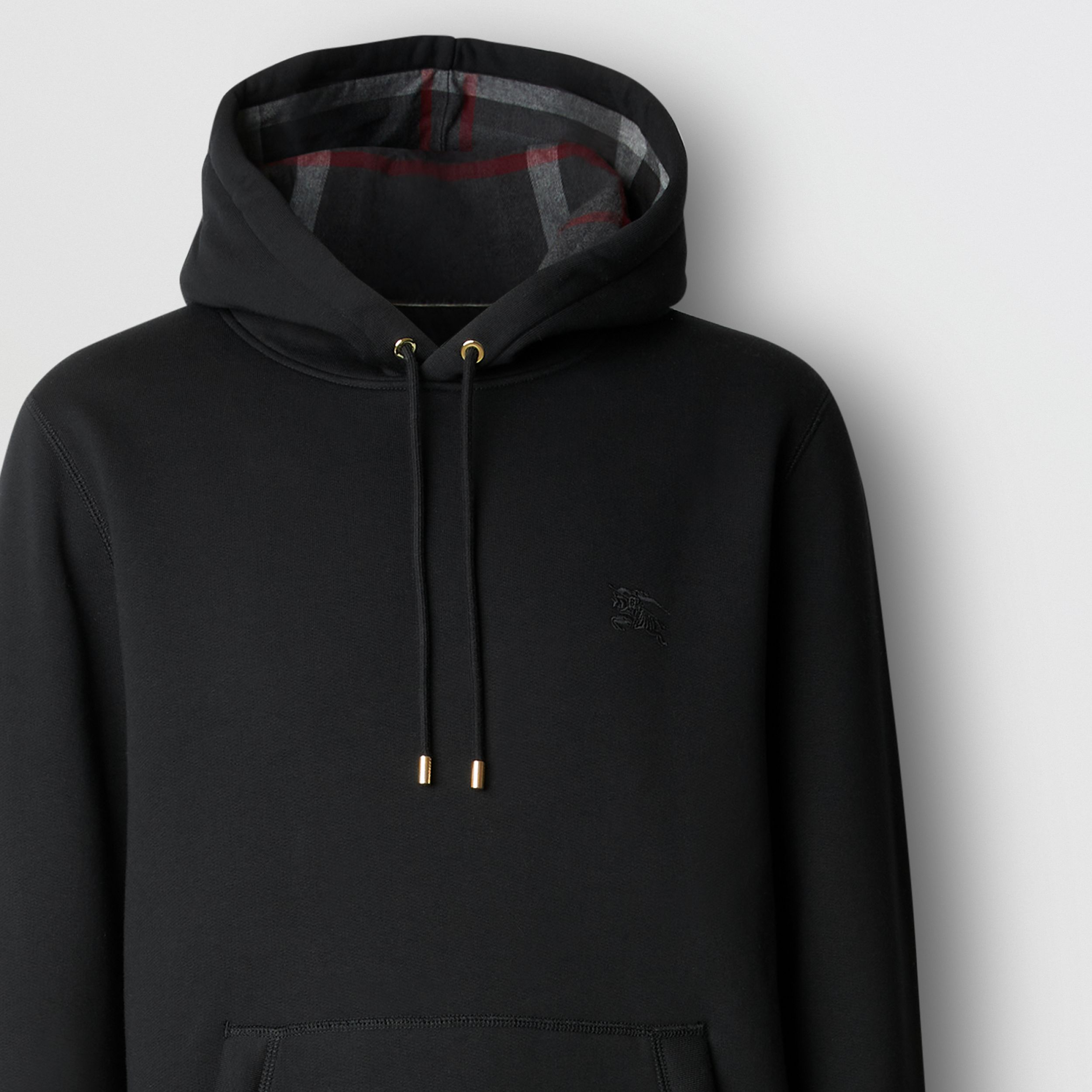 Embroidered EKD Cotton Blend Hoodie in Black - Men | Burberry - 2