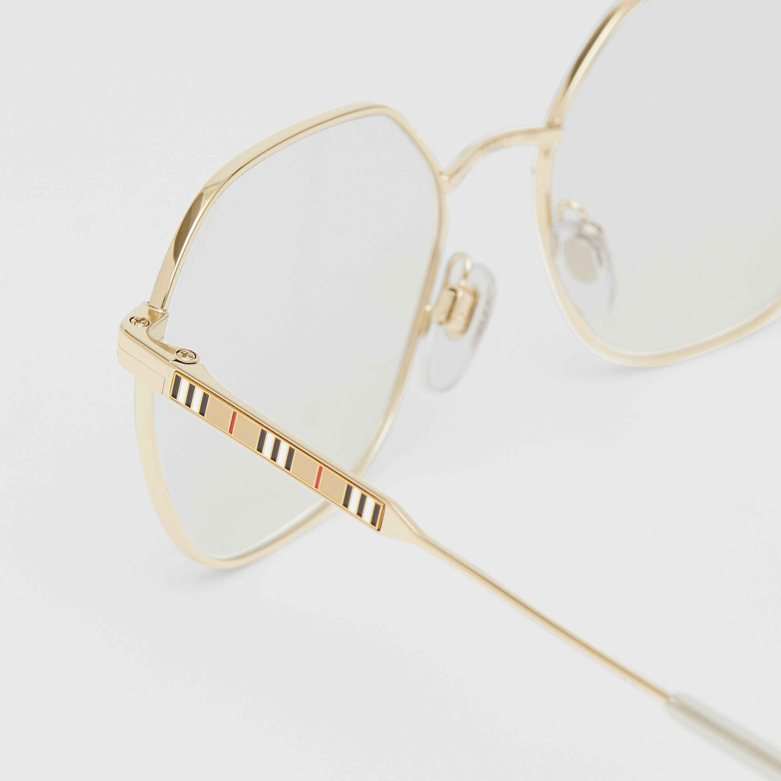 Geometric Optical Frames in Pearl - Women | Burberry - 2