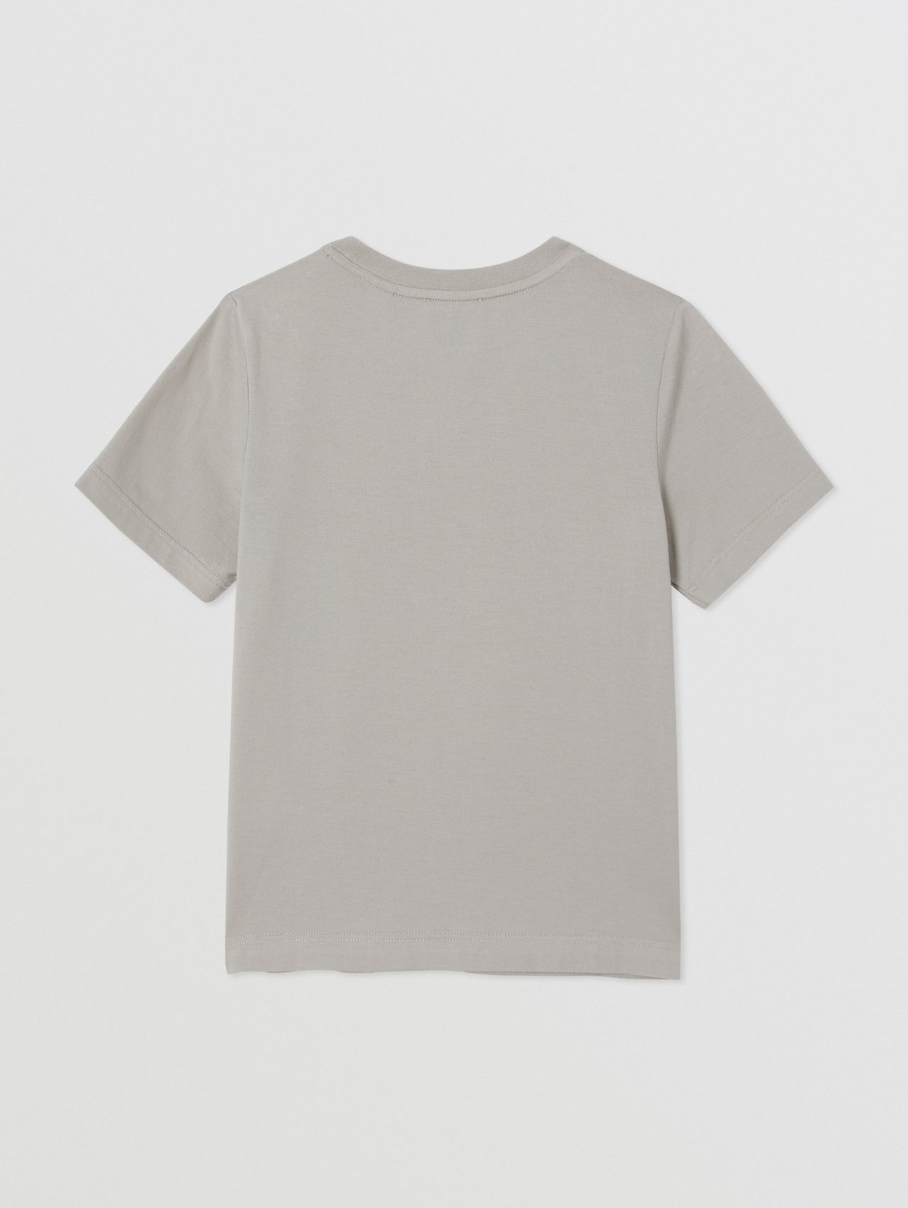 Montage Print Cotton T-shirt in Grey
