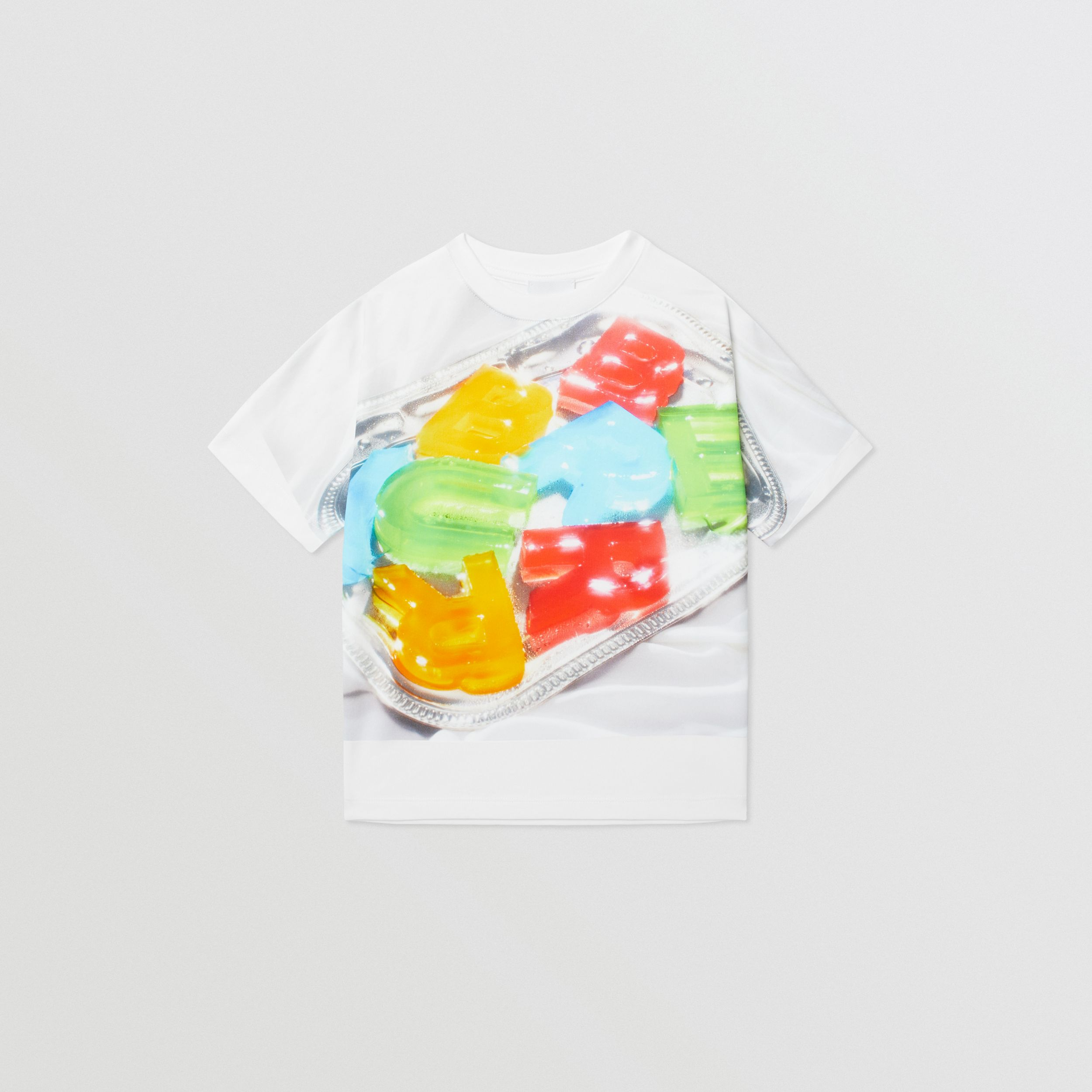Confectionery Print Cotton T-shirt in Multicolour | Burberry - 1