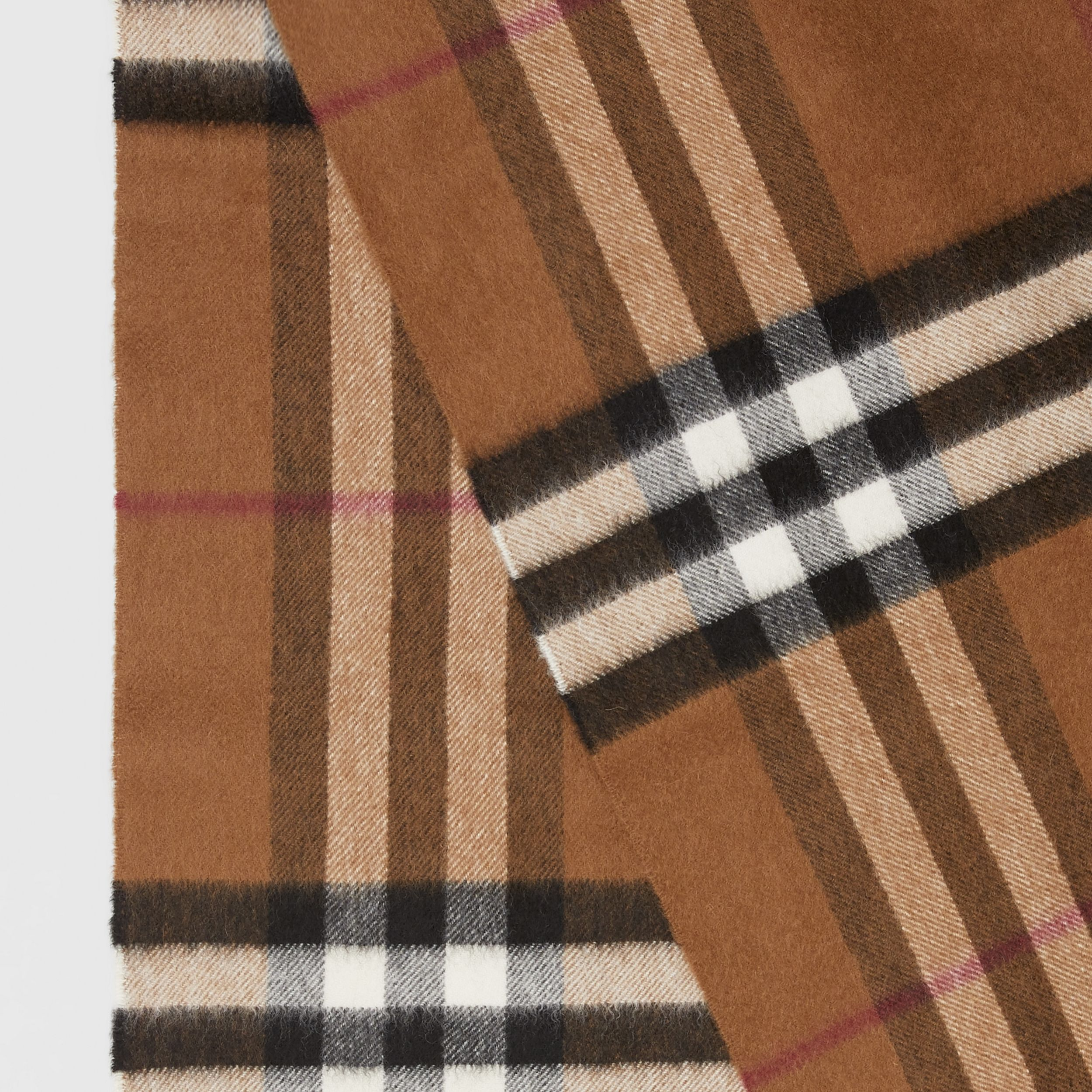 The Classic Check Cashmere Scarf in Birch Brown | Burberry - 2