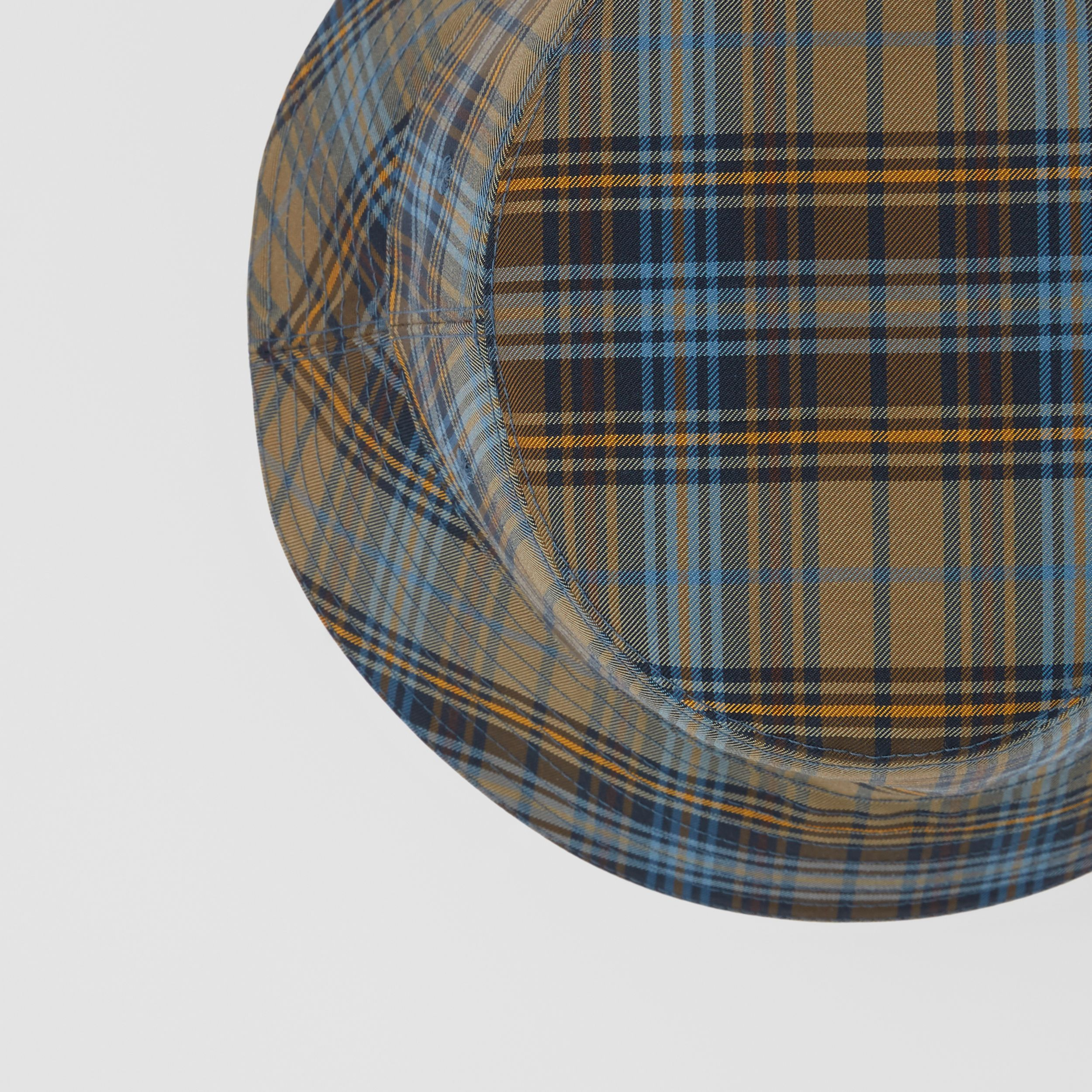 Tartan Technical Cotton Bucket Hat in Pale Powder Green | Burberry - 2