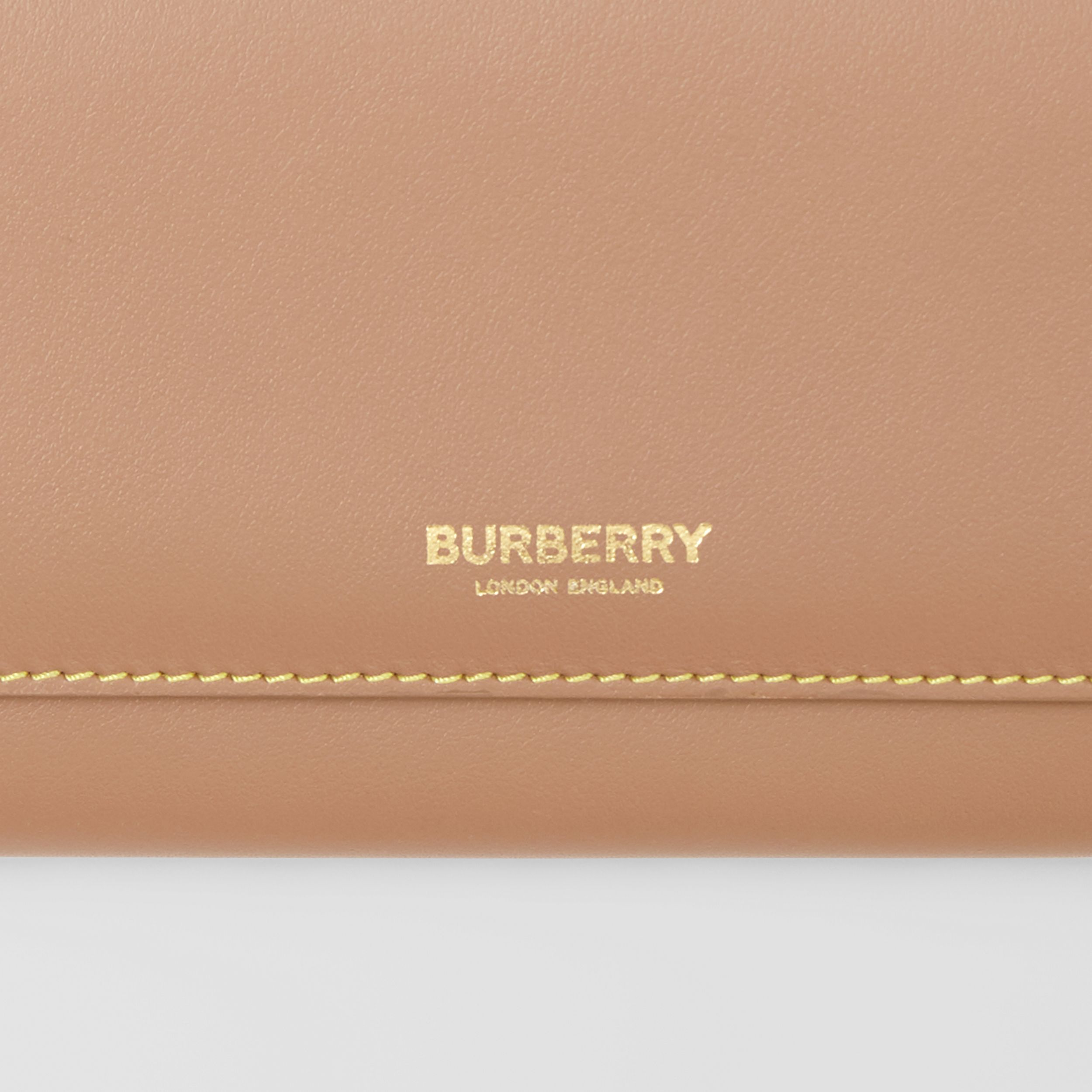 Topstitched Two-tone Leather Continental Wallet in Camel - Women | Burberry - 2