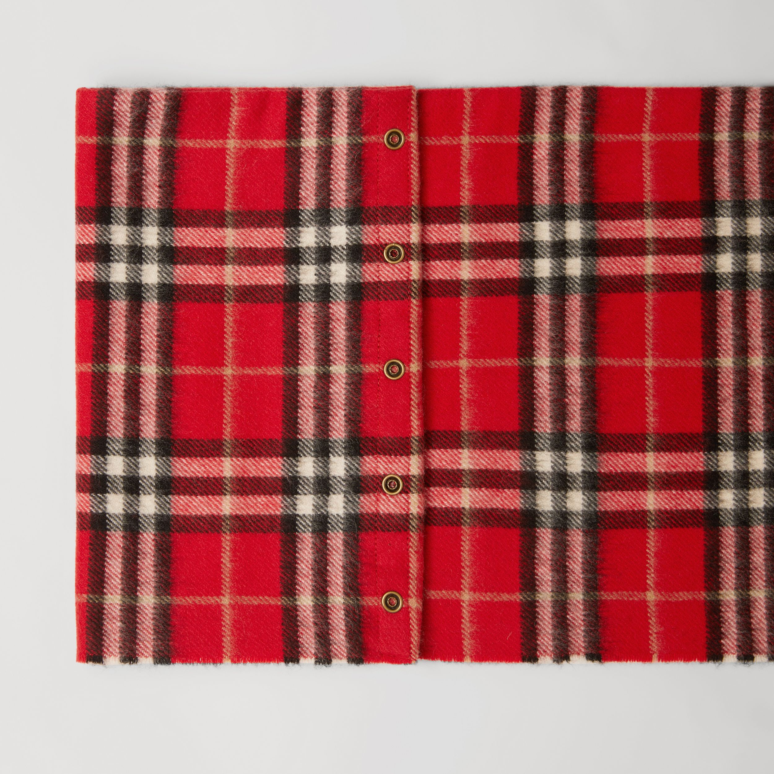 Vintage Check Cashmere Snood in Bright Red - Children | Burberry - 2