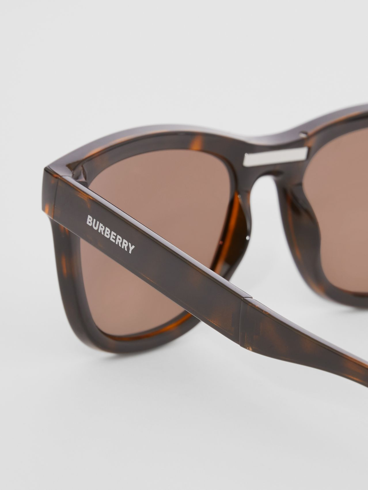 Logo Detail Square Frame Sunglasses in Tortoiseshell