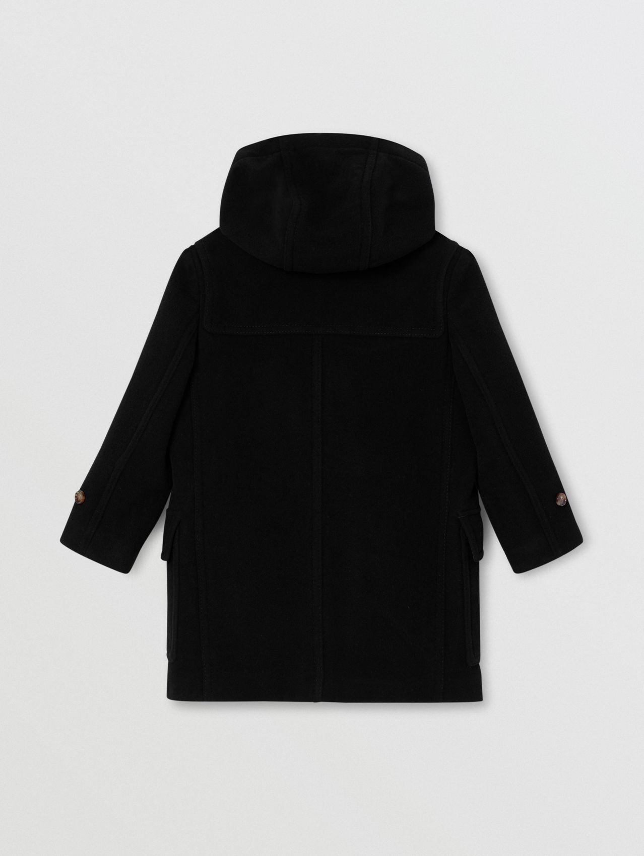 Double-faced Wool Duffle Coat (Black)