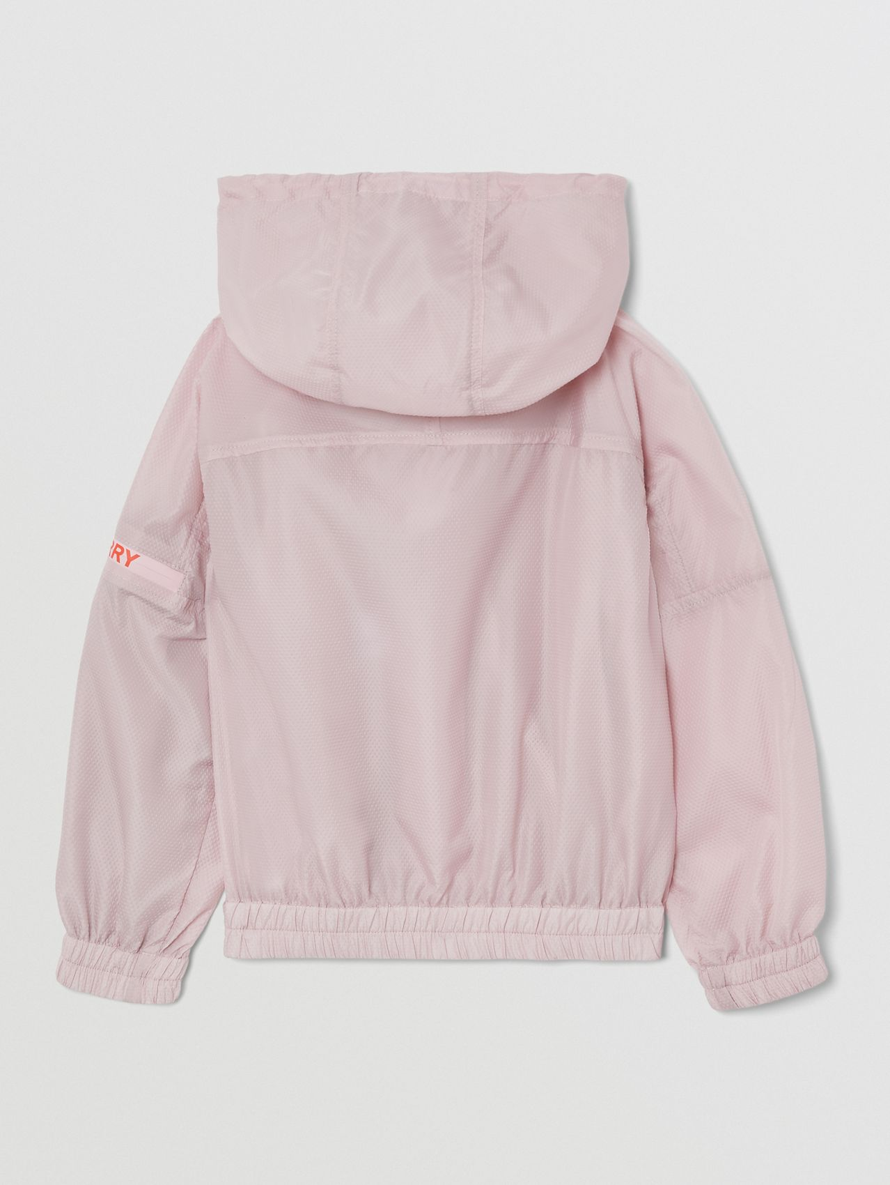 Logo Print Lightweight Hooded Jacket in Pastel Pink