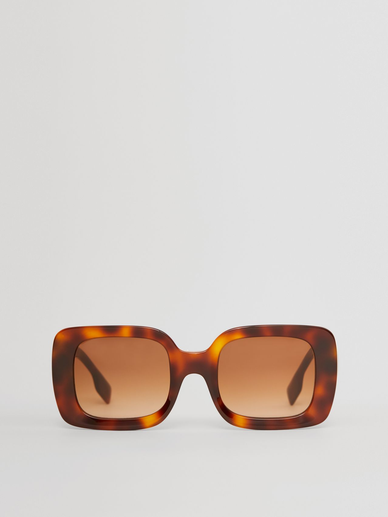 Monogram Motif Square Frame Sunglasses in Dark Tortoiseshell Amber