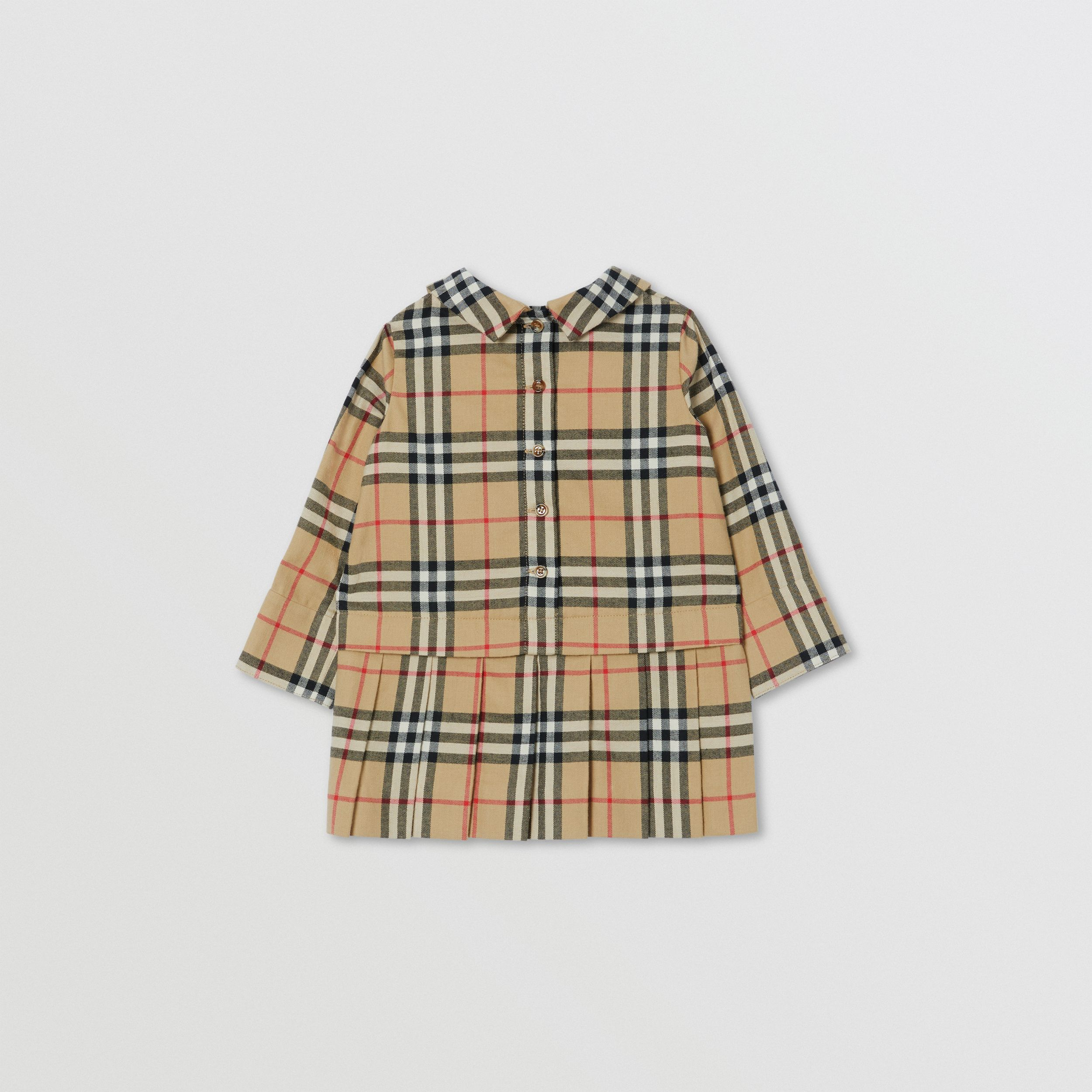 Peter Pan Collar Vintage Check Cotton Dress - Children | Burberry - 4