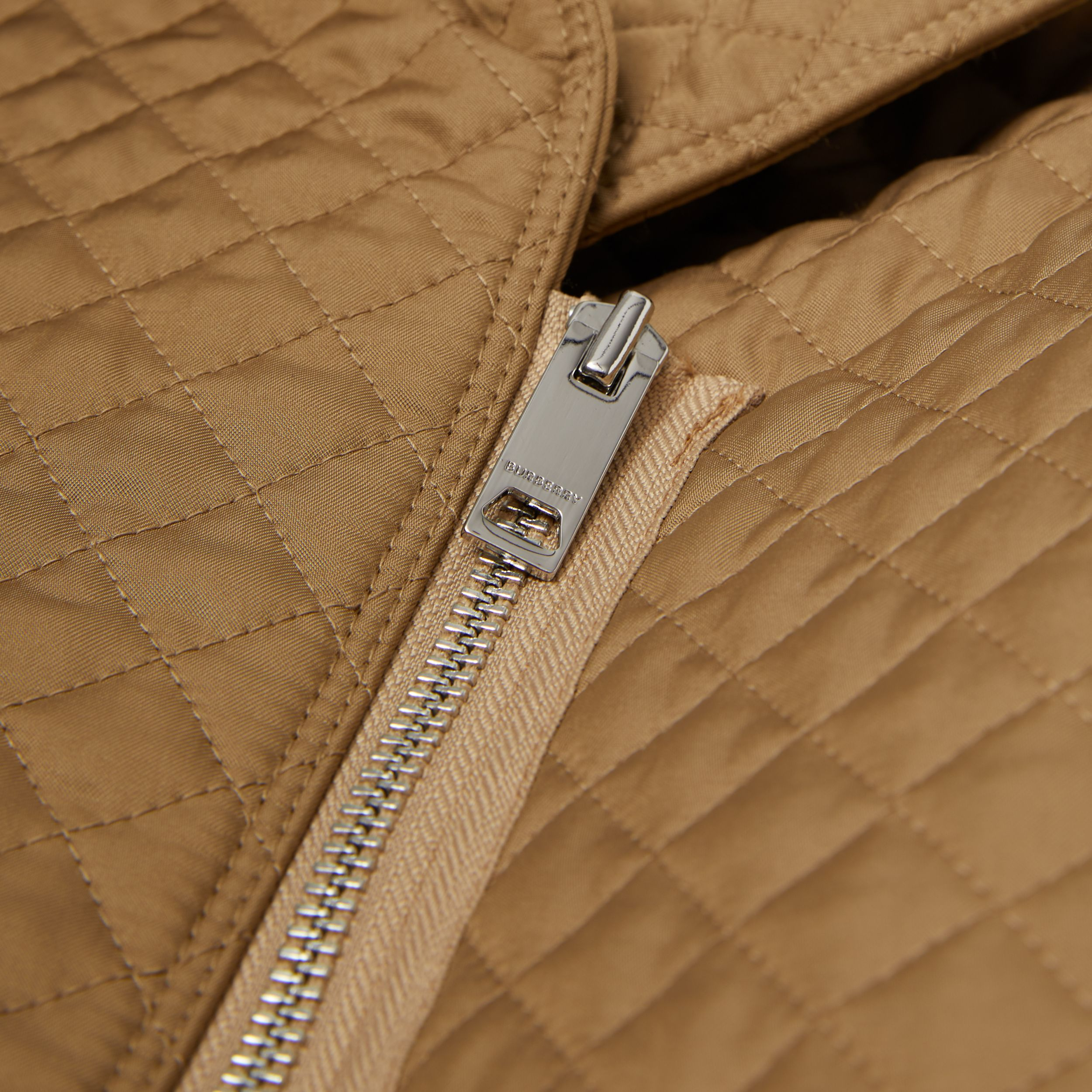 Monogram Quilted Recycled Polyester Coat in Honey | Burberry - 2