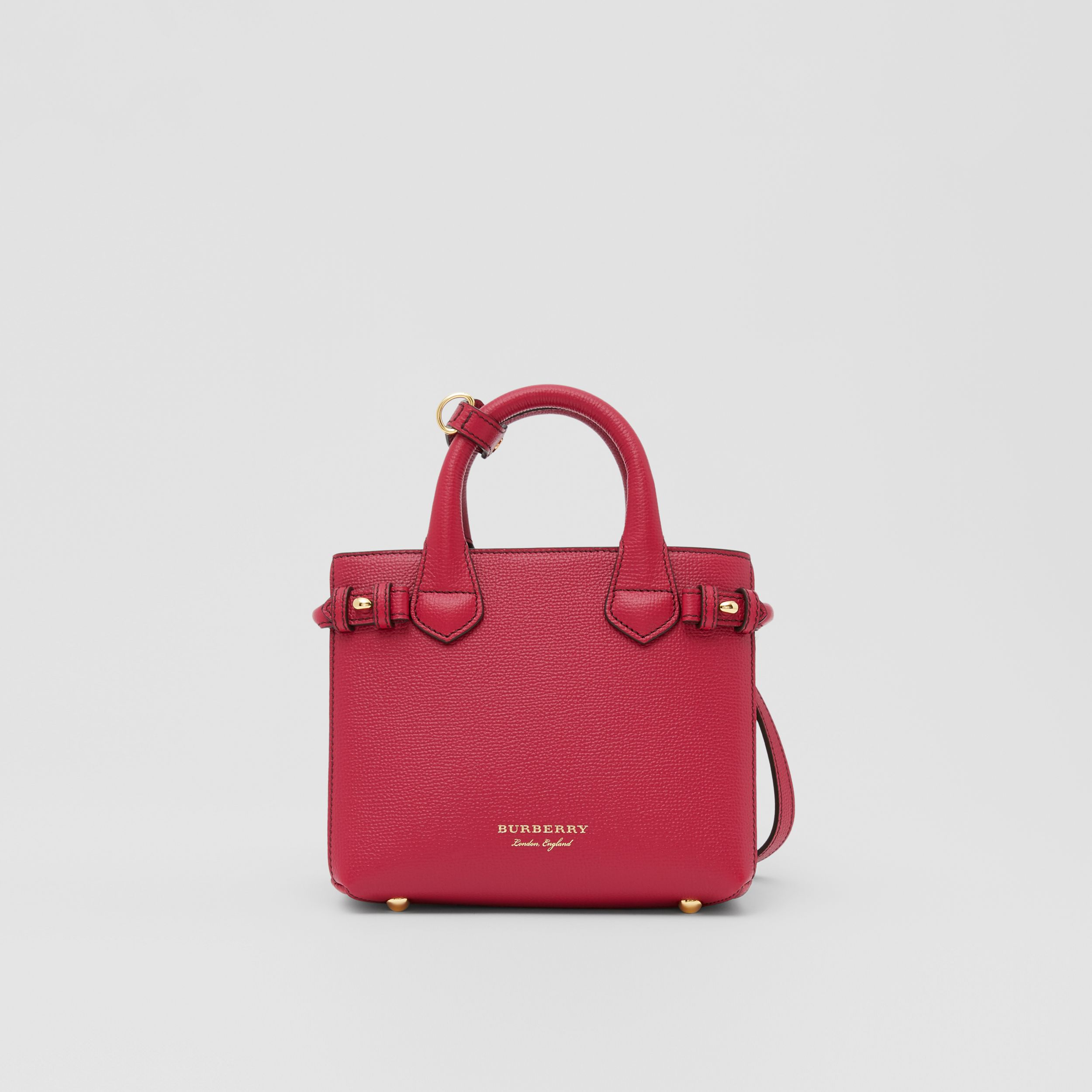 The Baby Banner in Leather and House Check in Russet Red - Women | Burberry - 1