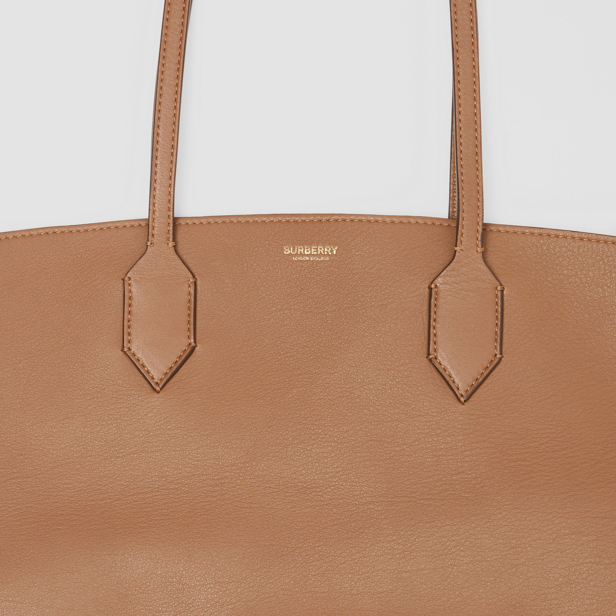 Medium Leather Society Tote in Dusty Caramel - Women | Burberry - 2