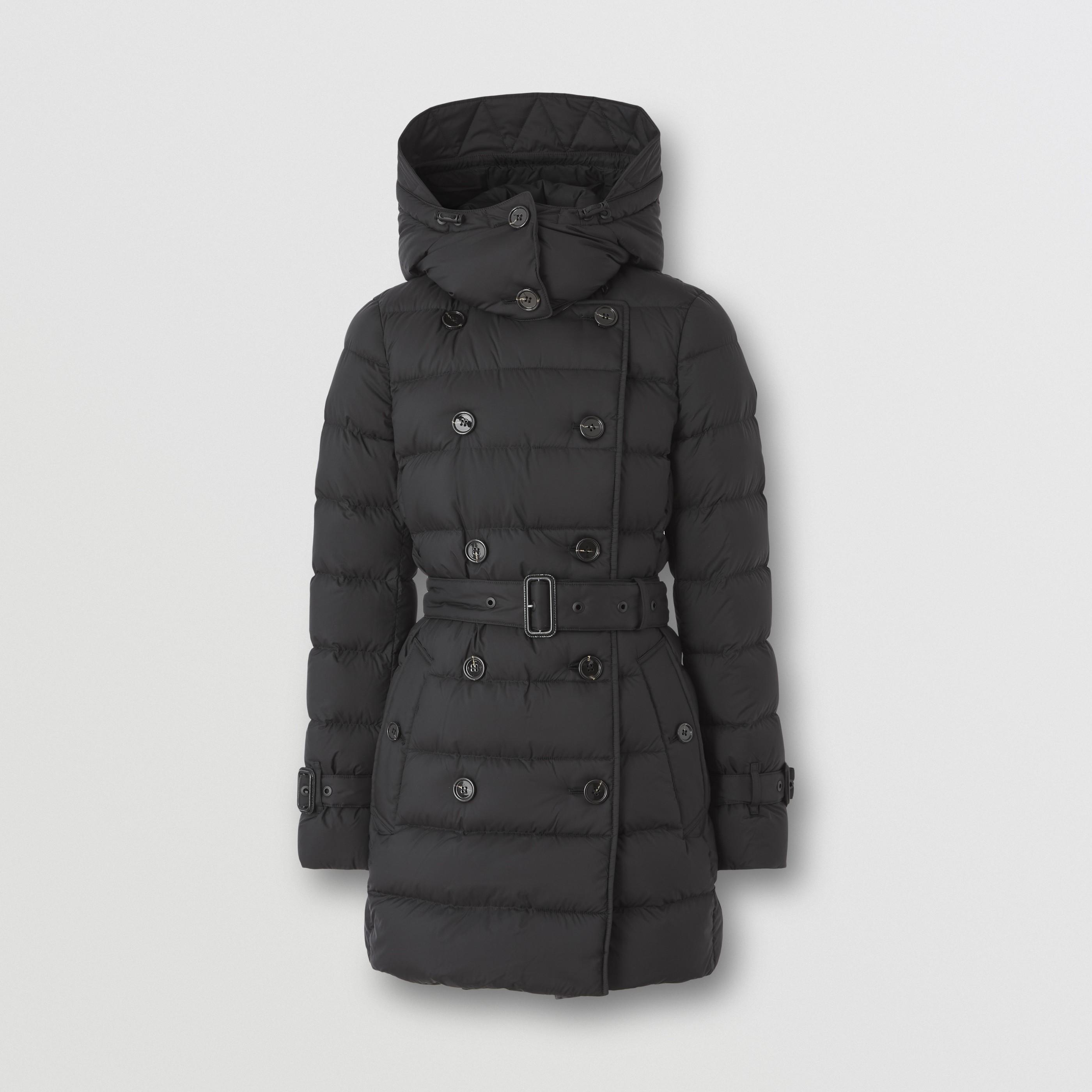 Cappotto imbottito con cappuccio staccabile (Nero) - Donna   Burberry - 4