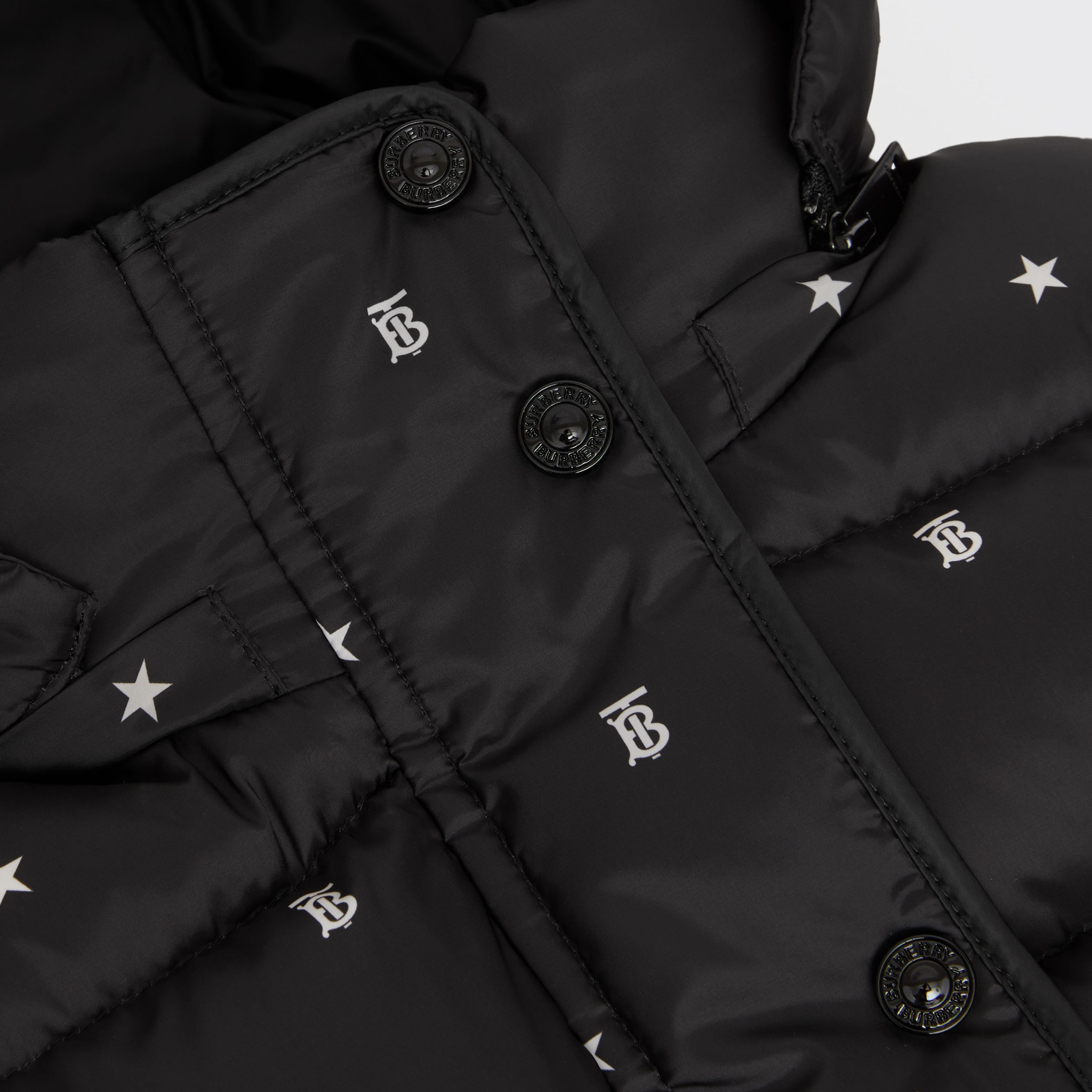 Star and Monogram Motif Puffer Gilet in Black | Burberry - 2