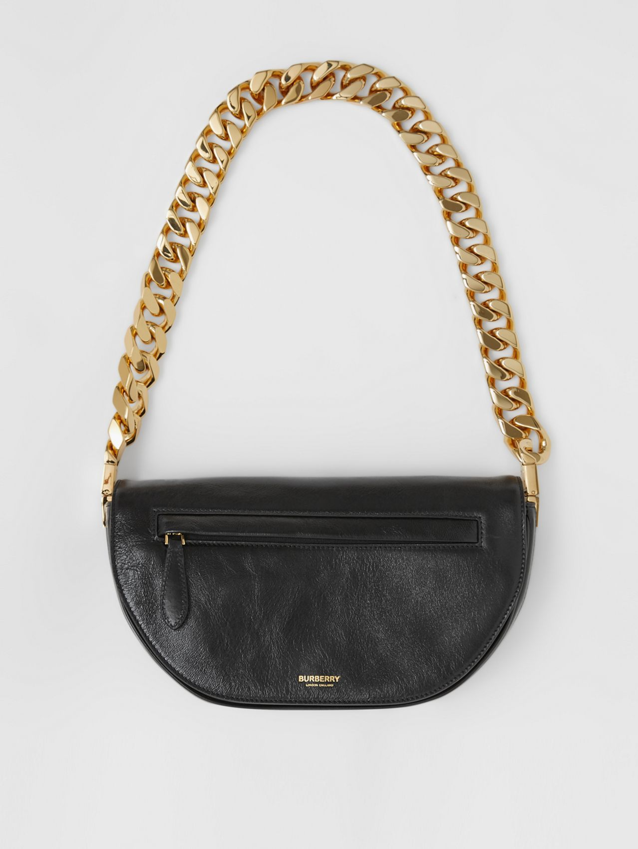 Small Lambskin Olympia Bag in Black