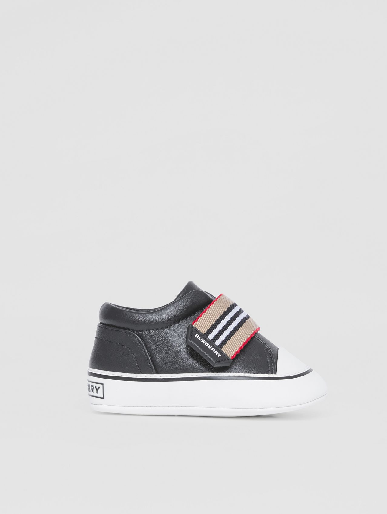 Icon Stripe Strap Slip-on Sneakers in Black
