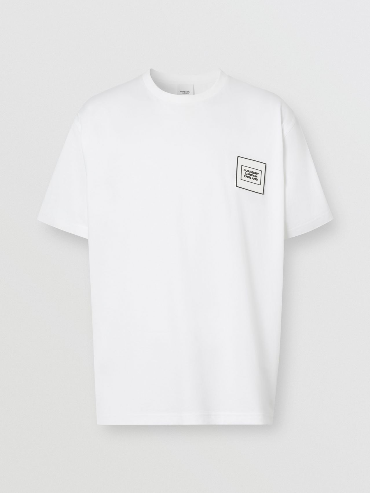 Logo Appliqué Cotton T-shirt in White
