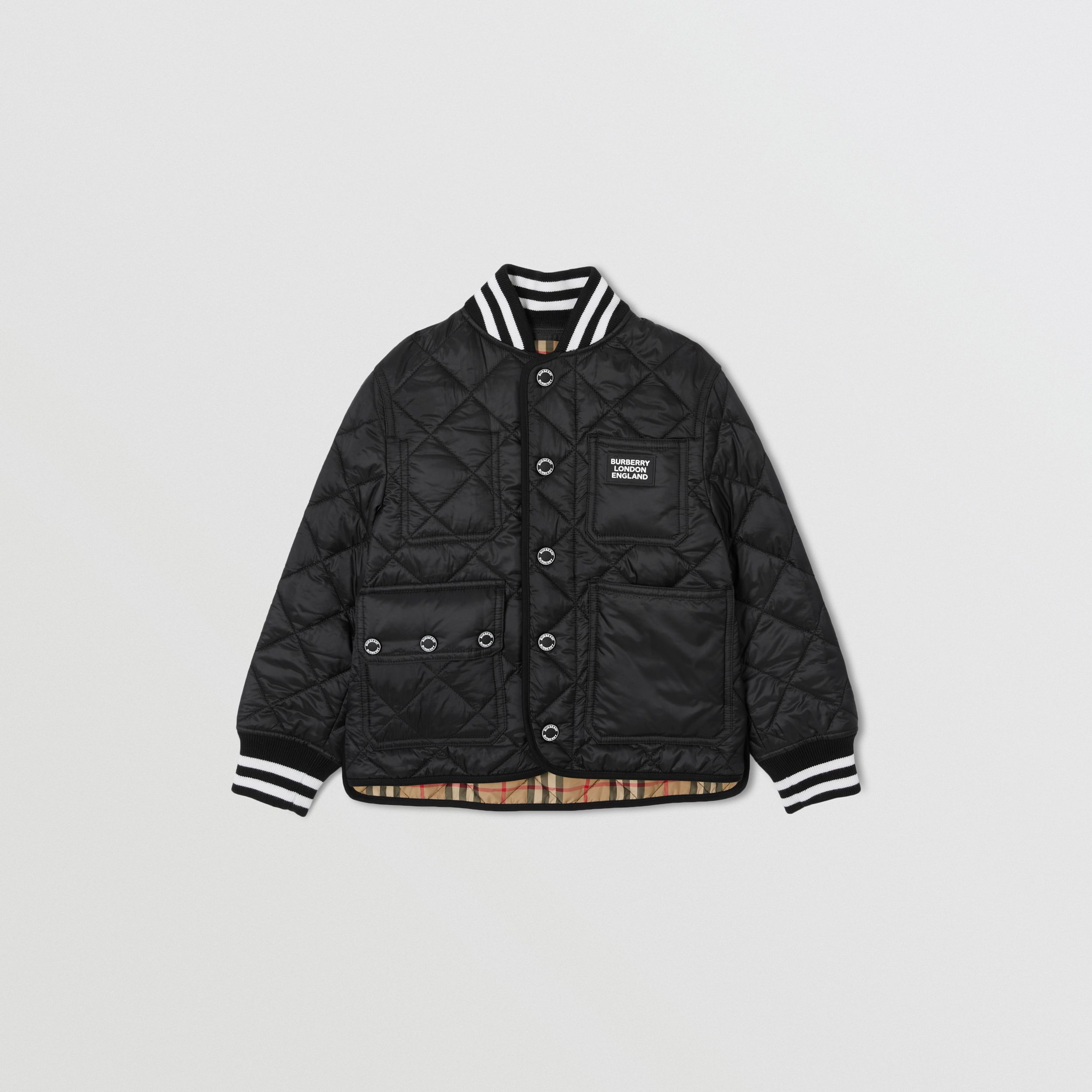 Recycled Polyester Diamond Quilted Jacket | Burberry Hong Kong S.A.R. - 1
