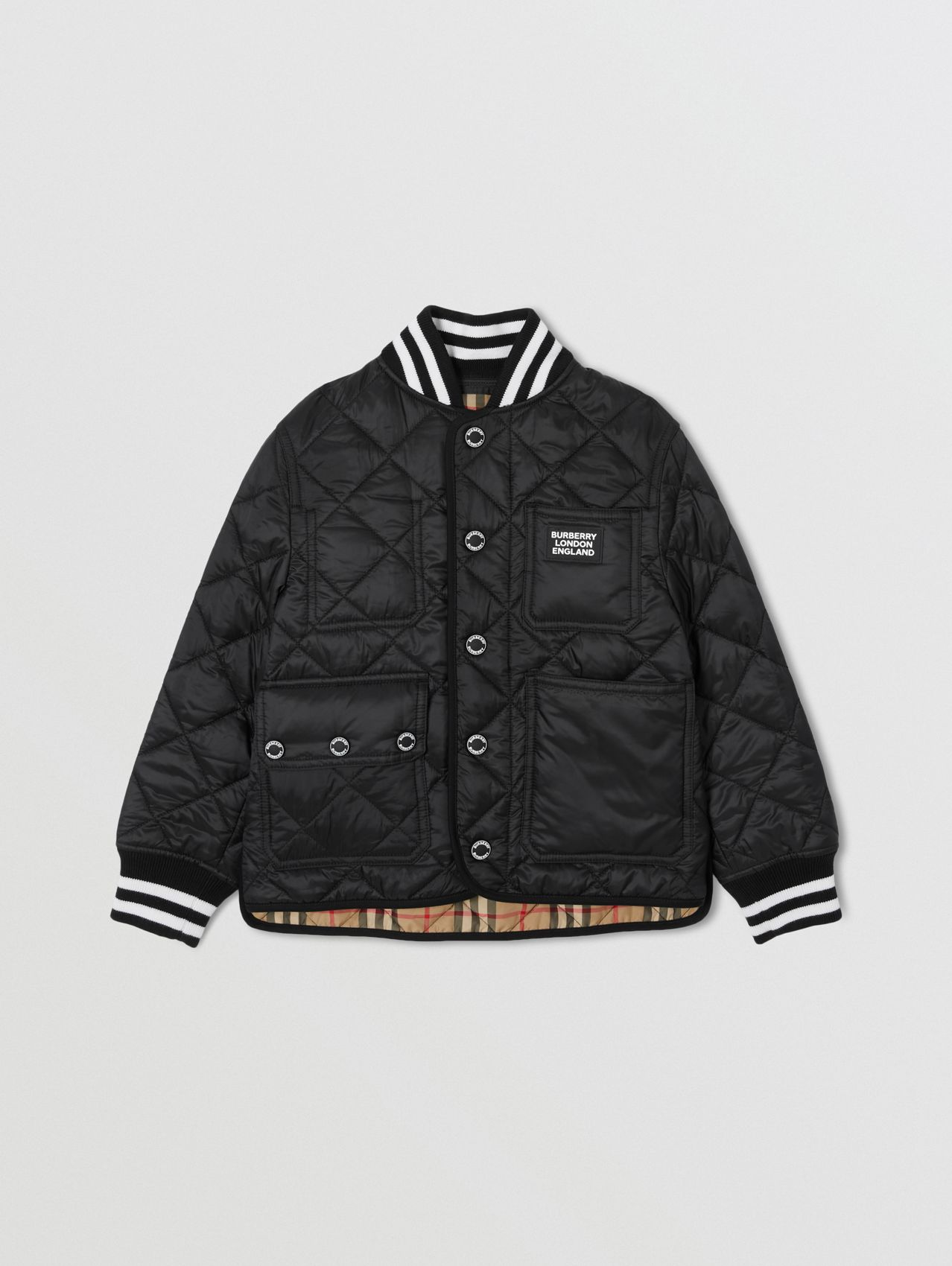 Recycled Polyester Diamond Quilted Jacket