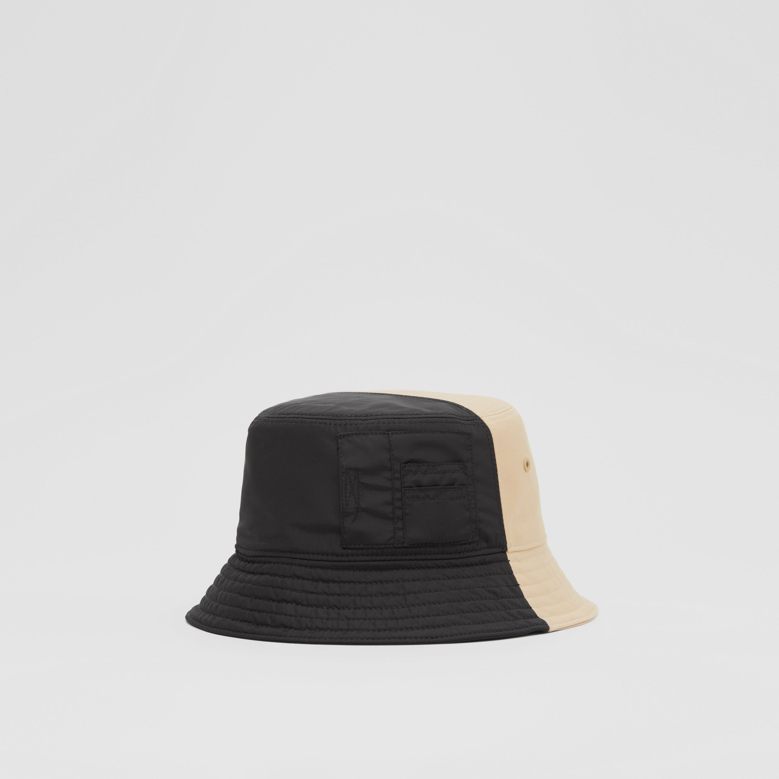 Nylon and Cotton Twill Bucket Hat in Soft Fawn | Burberry Singapore - 1