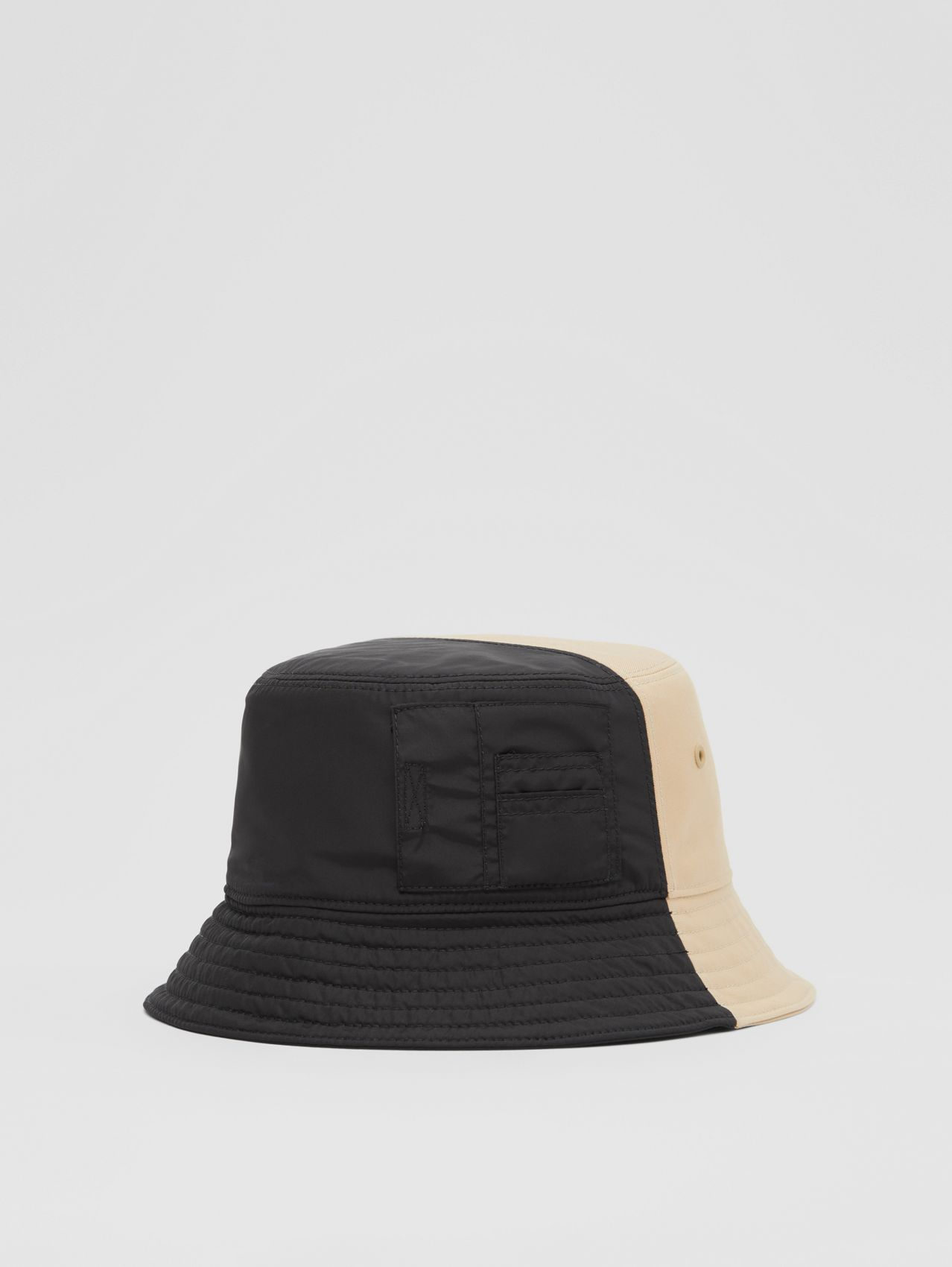 Nylon and Cotton Twill Bucket Hat in Soft Fawn