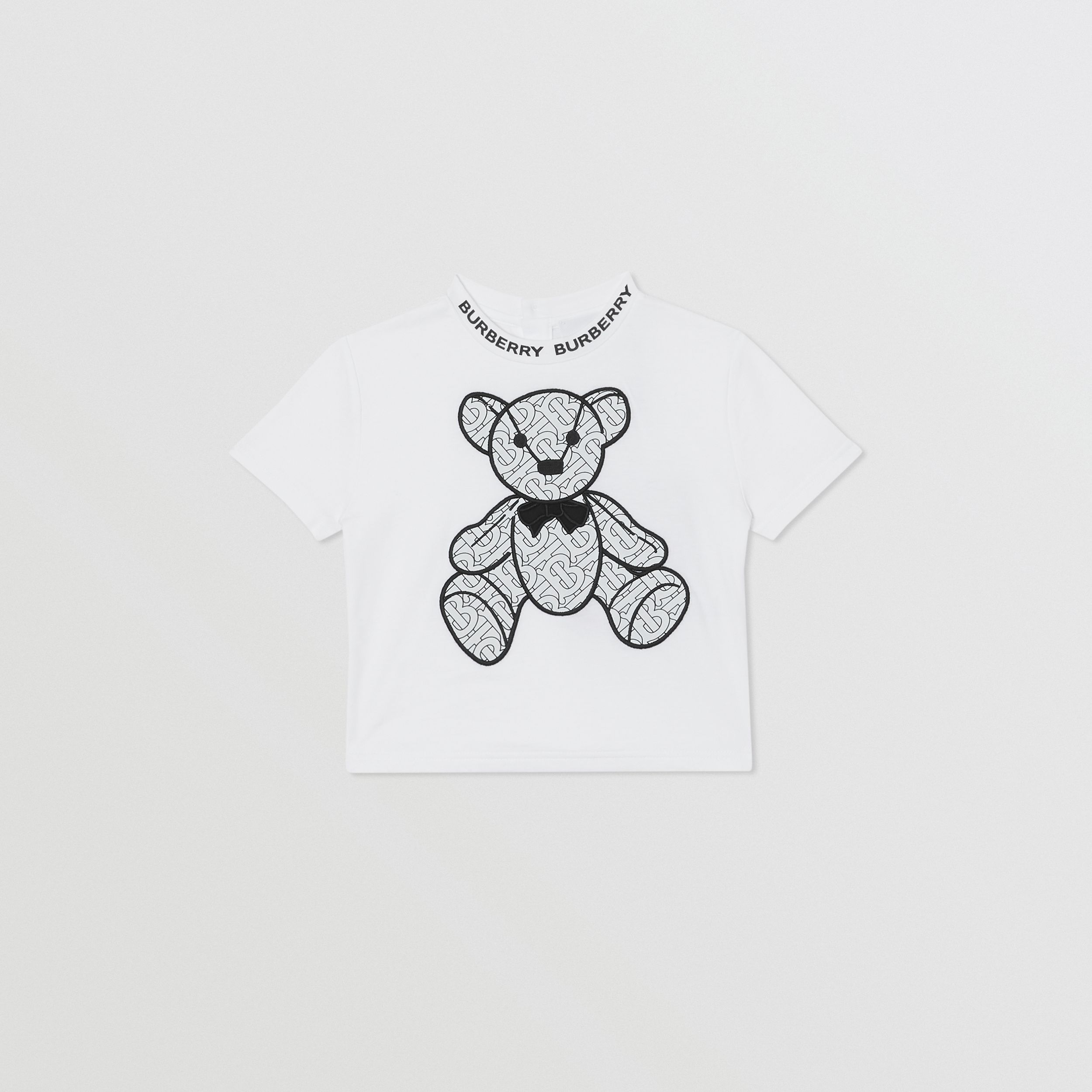 Thomas Bear Appliqué Cotton T-shirt in White - Children | Burberry - 1